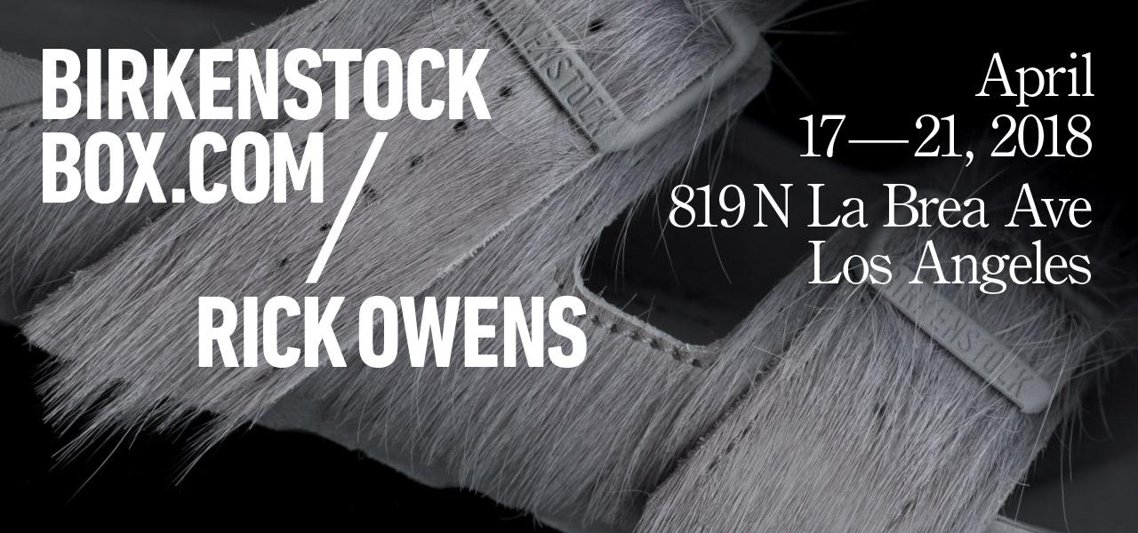 Box Rick Owens Online Kaufen Bei Birkenstock