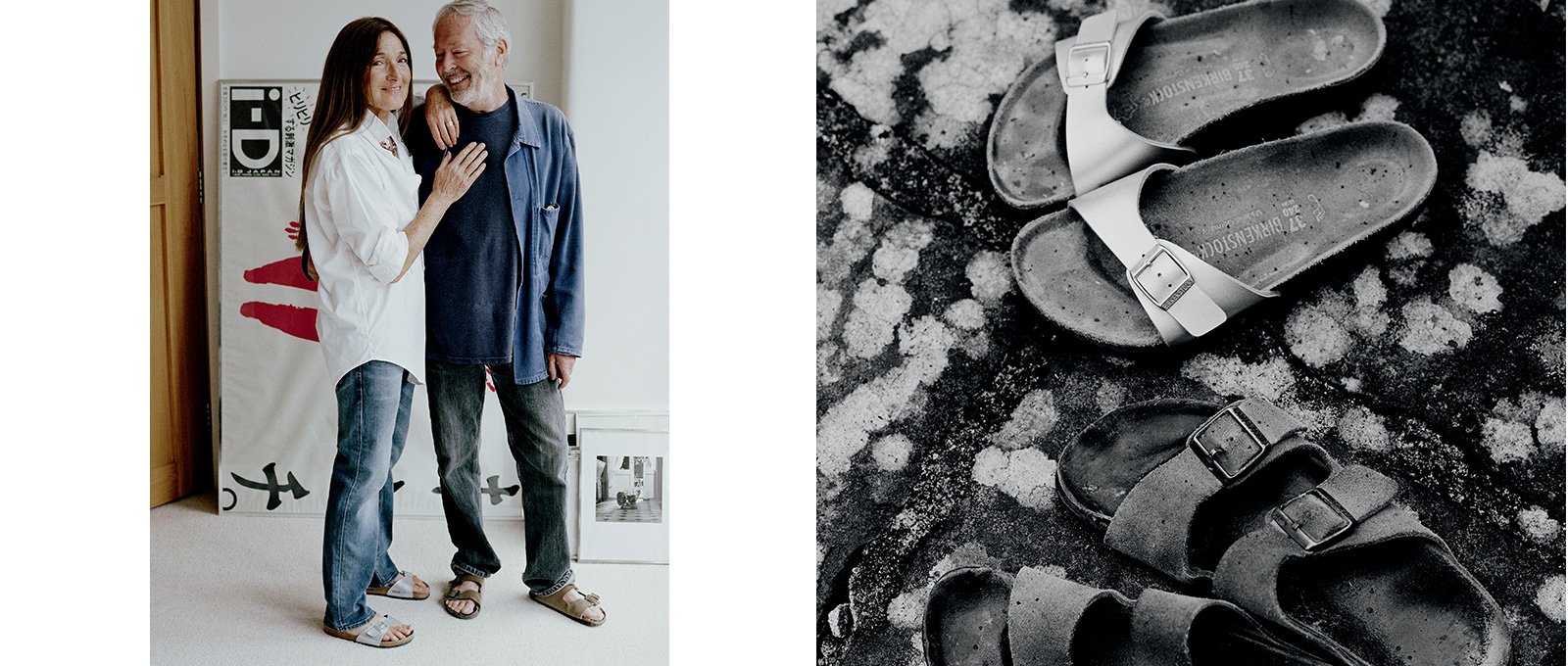 Tricia & Terry Jones in Birkenstocks