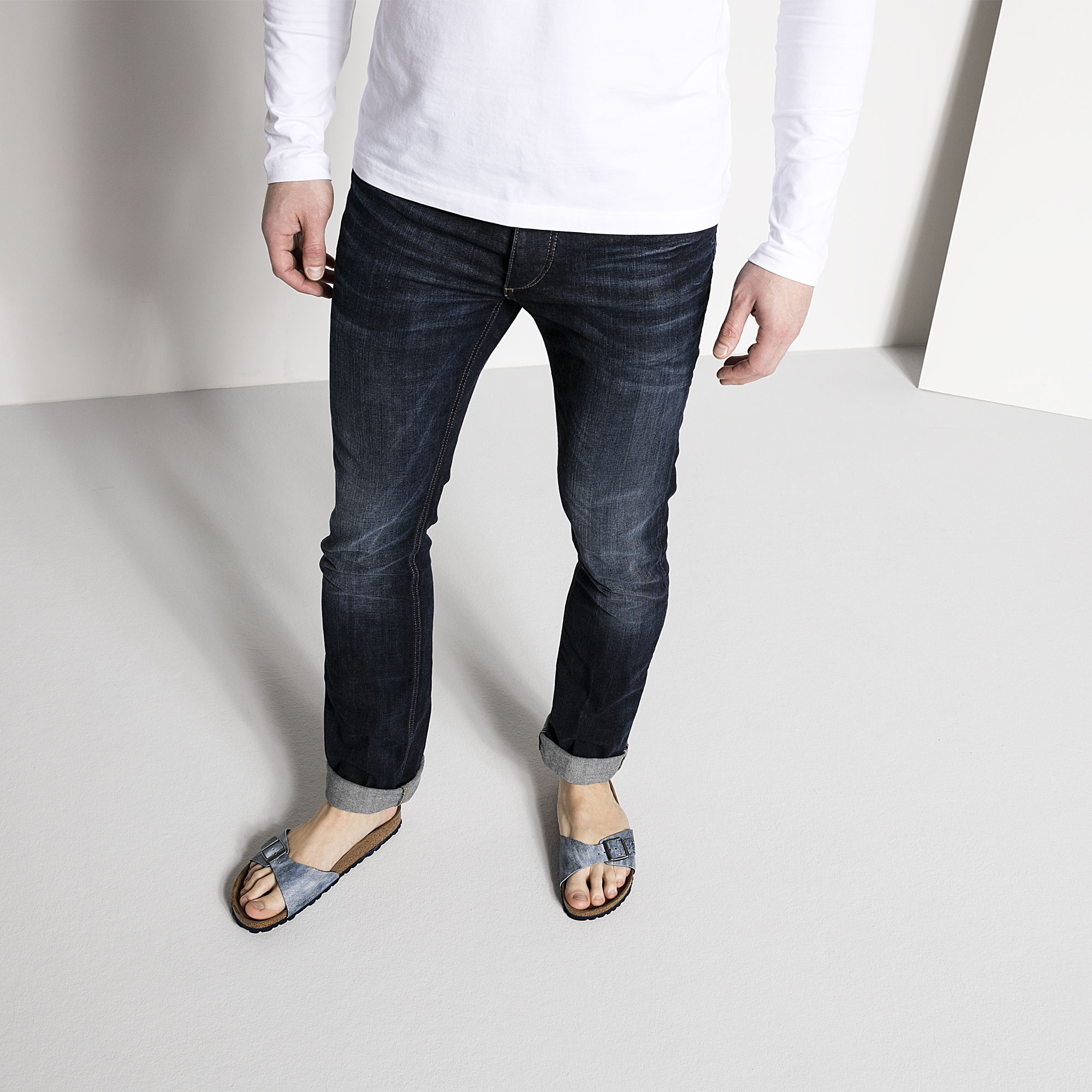 Madrid Birko Flor Jeans Washed Out Blue