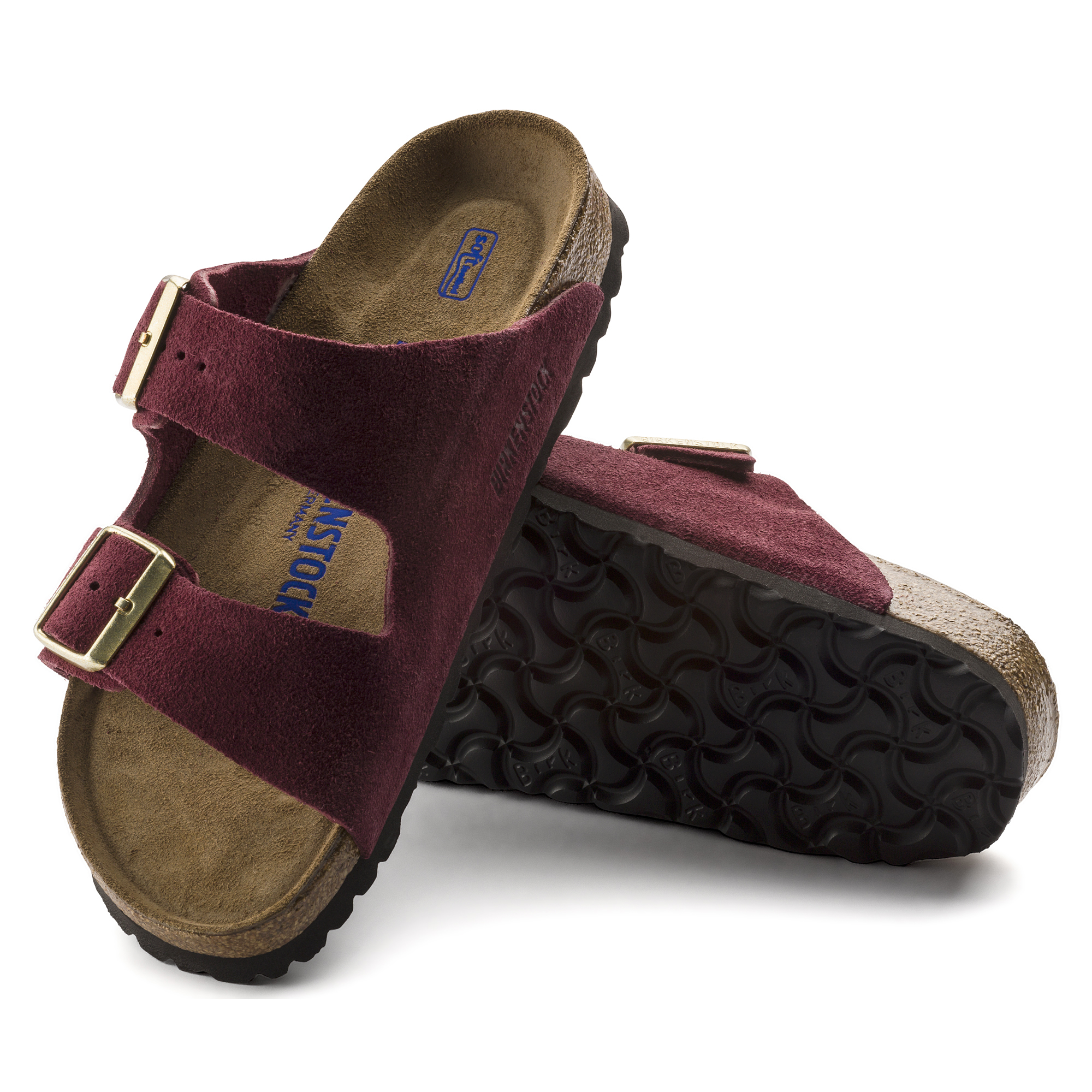 Arizona Suede Leather Bordeaux