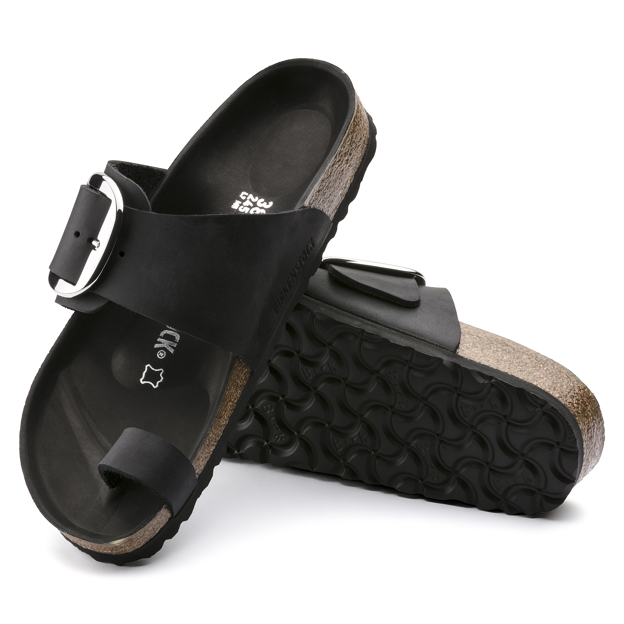 0452c2722f1d ... Miramar Big Buckle Oiled Leather Black ...