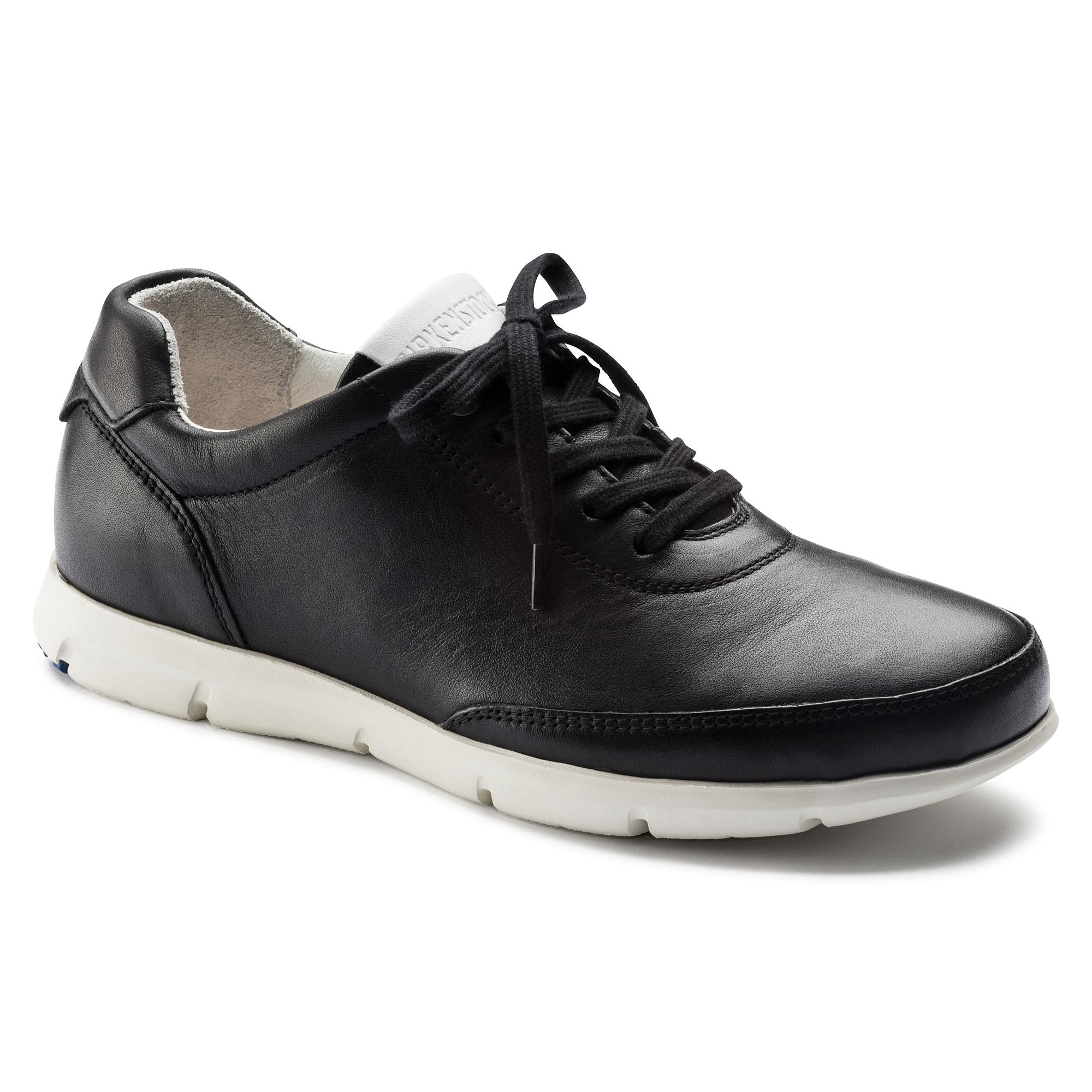Birkenstock Manitoba - Zapatillas de Cuero, Mujer, Negro, 38