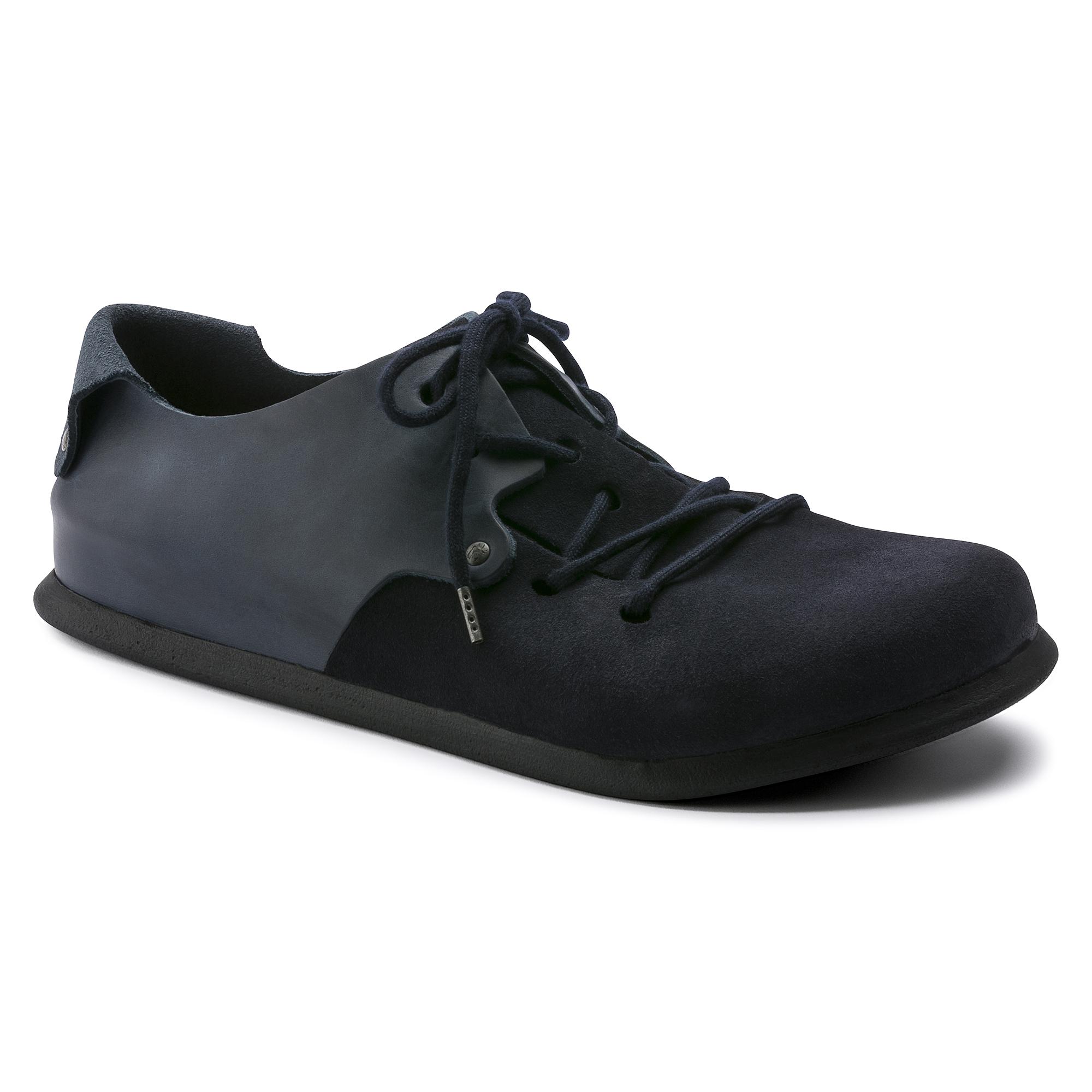 parrilla Posible Geometría  Montana Oiled Leather/Suede Leather Ebony | BIRKENSTOCK