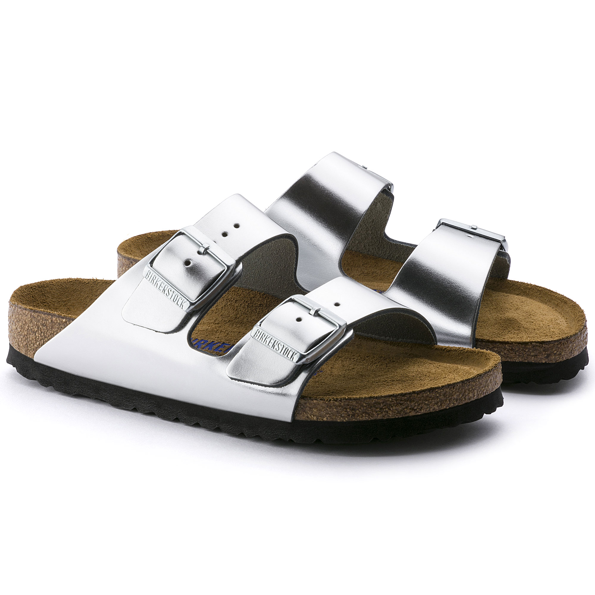 739abb901bb02a ... Arizona Natural Leather Metallic Silver ...
