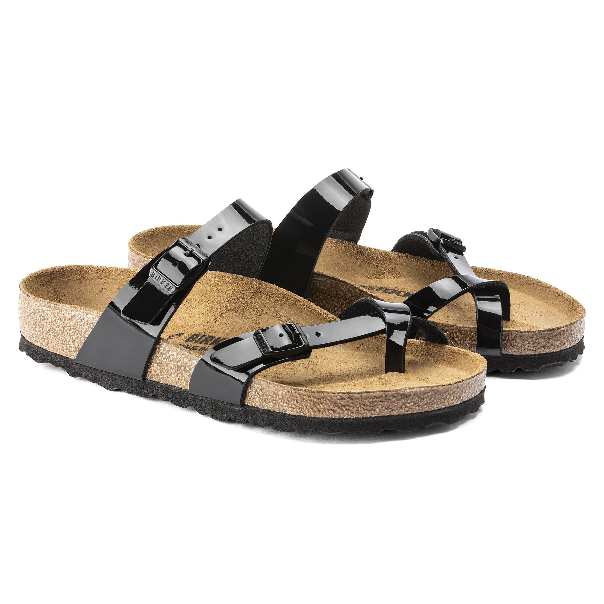 Birkenstock MAYARI - T-bar sandals - schwarz reDJu7kUJ8