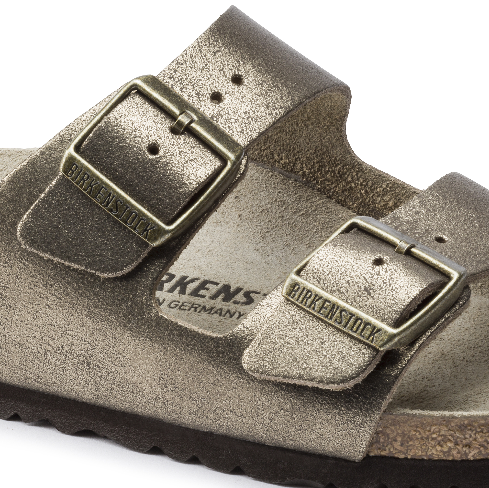 4f7a73025 Arizona Suede Leather Washed Metallic Antique Gold | BIRKENSTOCK