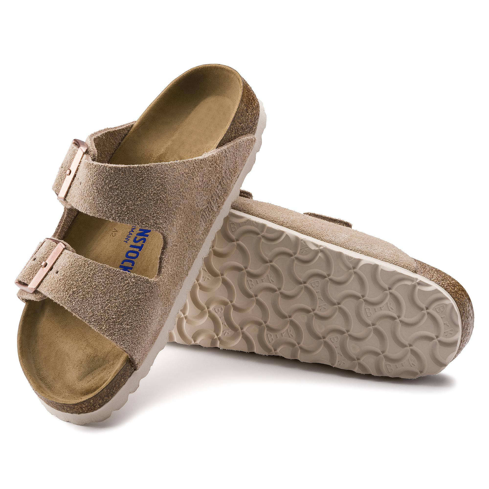 Birkenstock Arizona Soft Footbed Suede Leather   Nude