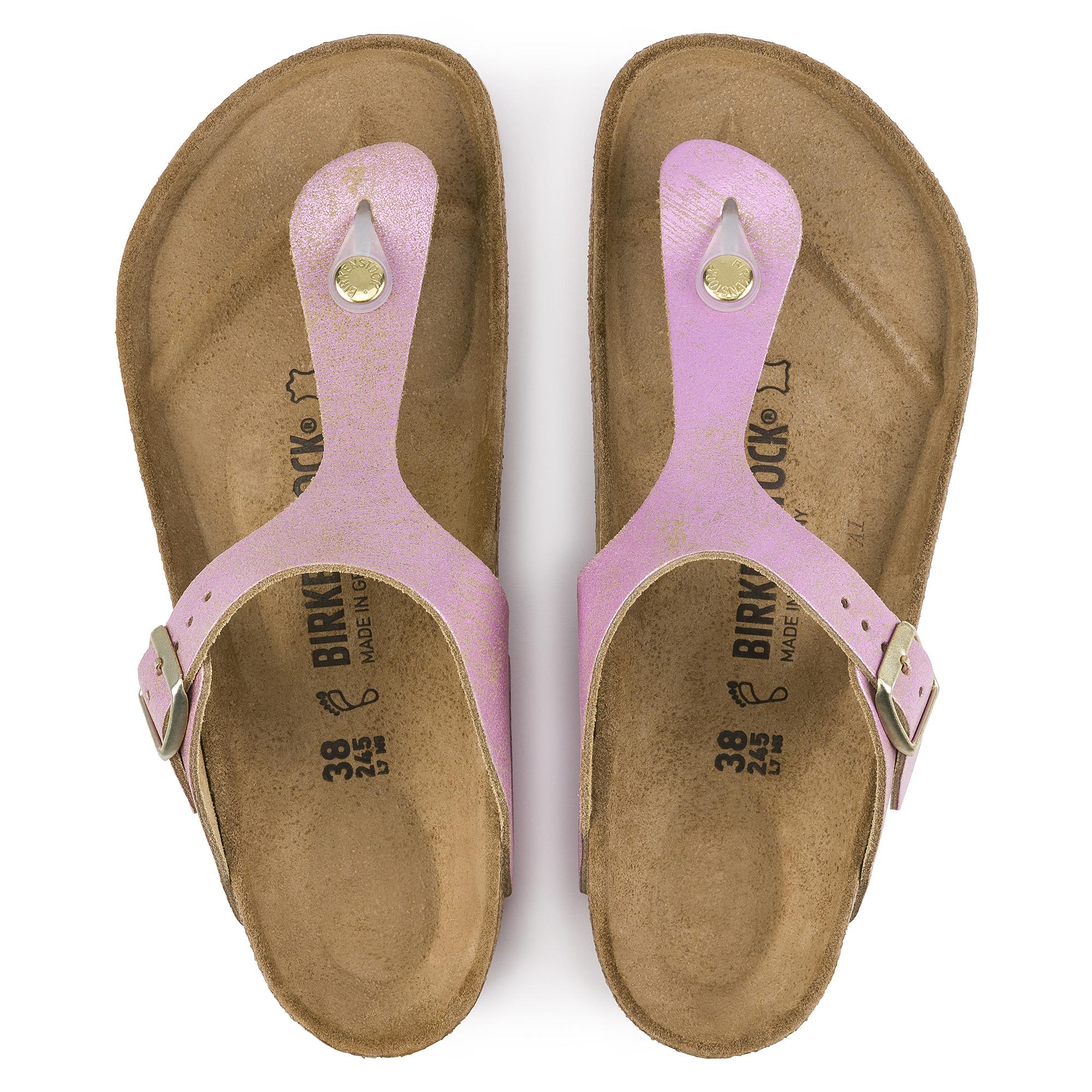 New Birkenstock Gizeh pink metallic sandal 39
