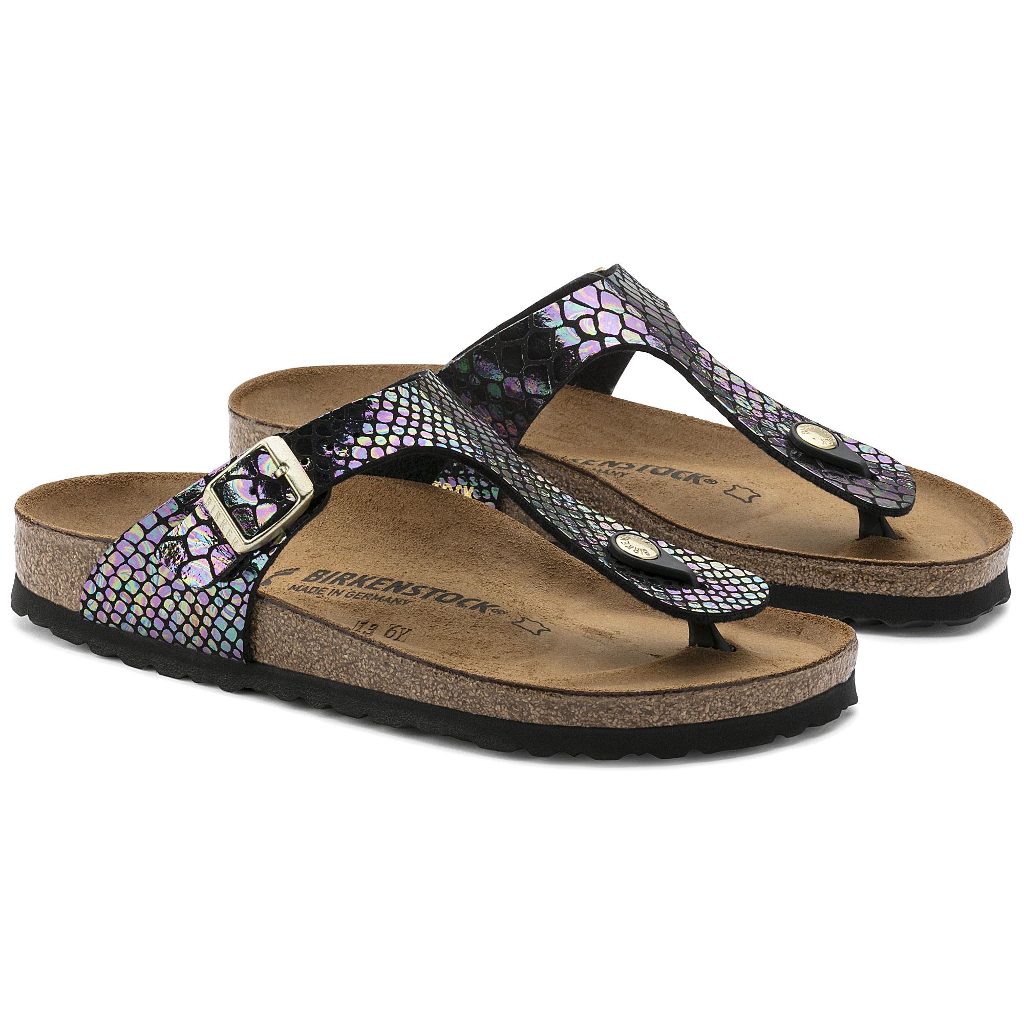4FD912LWME Womens Gizeh Shiny Snake Black Multicolor Birko-Flor Sandals 37 EU Tienda En Línea Barato Real Descuento Fotos DU4i3qxLd