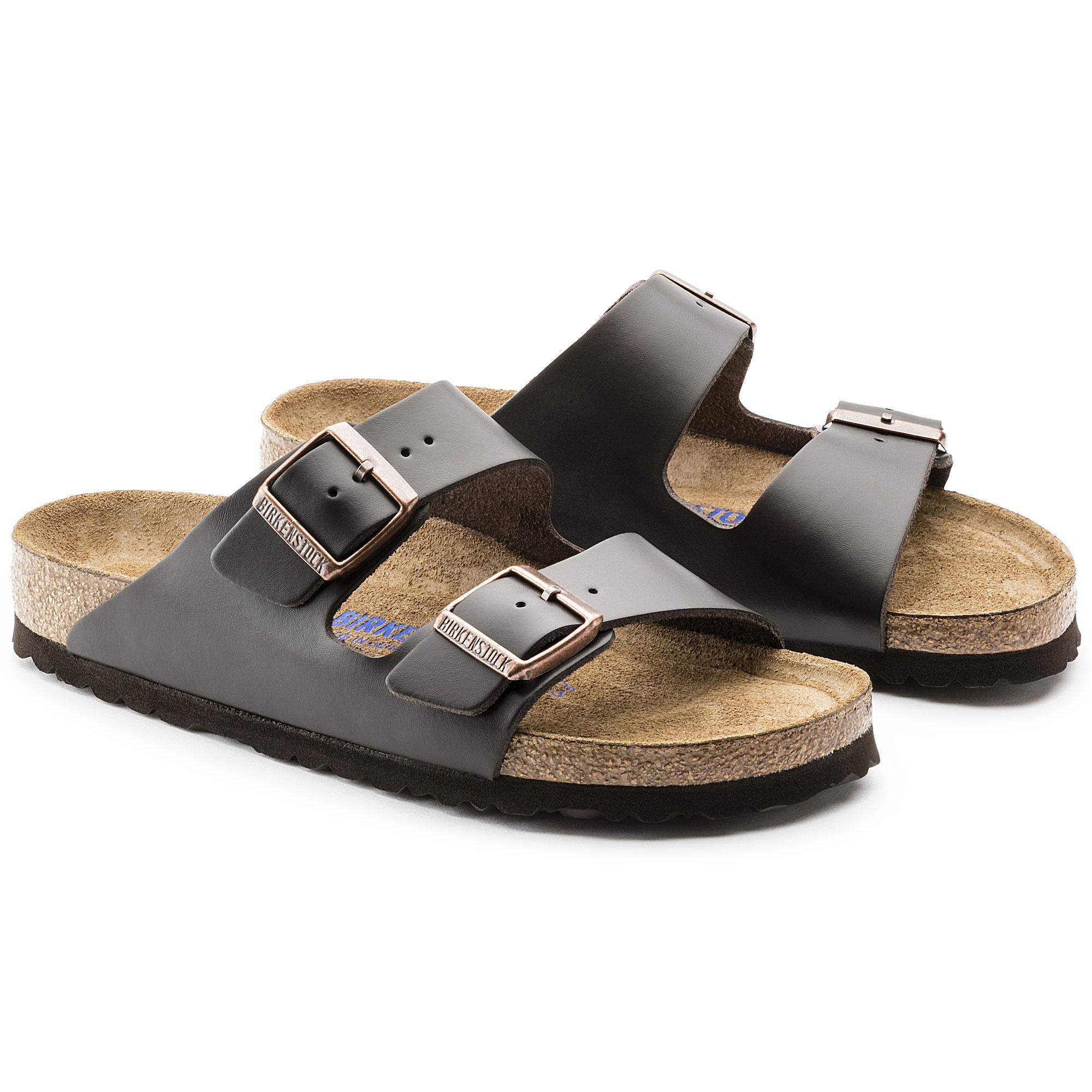 Birkenstock Arizona Smooth Leather Soft Footbed Womens Sandals i4fgGAPpv