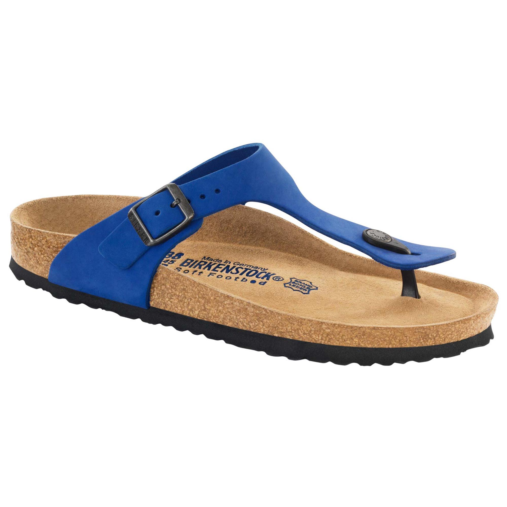 Gizeh Nubuck Leather Soft Footbed Blue