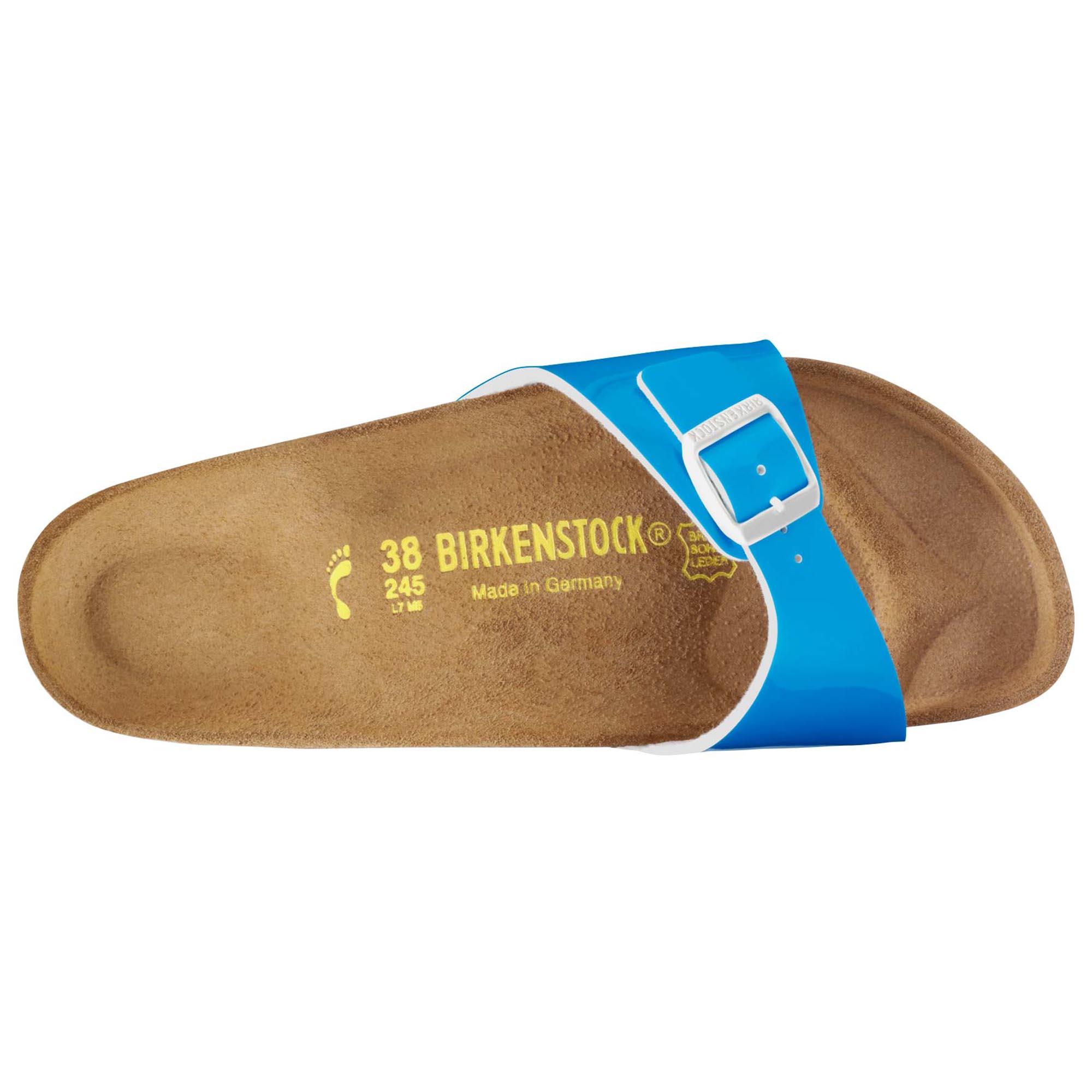 Birkenstock Madrid Pantent Bleu Néon QMp1zof