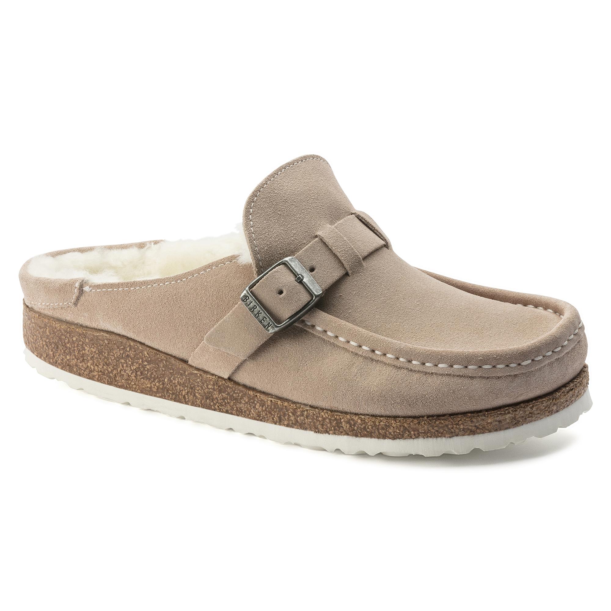 Birkenstock Arizona Suede Nude Narrow - Womens Footwear