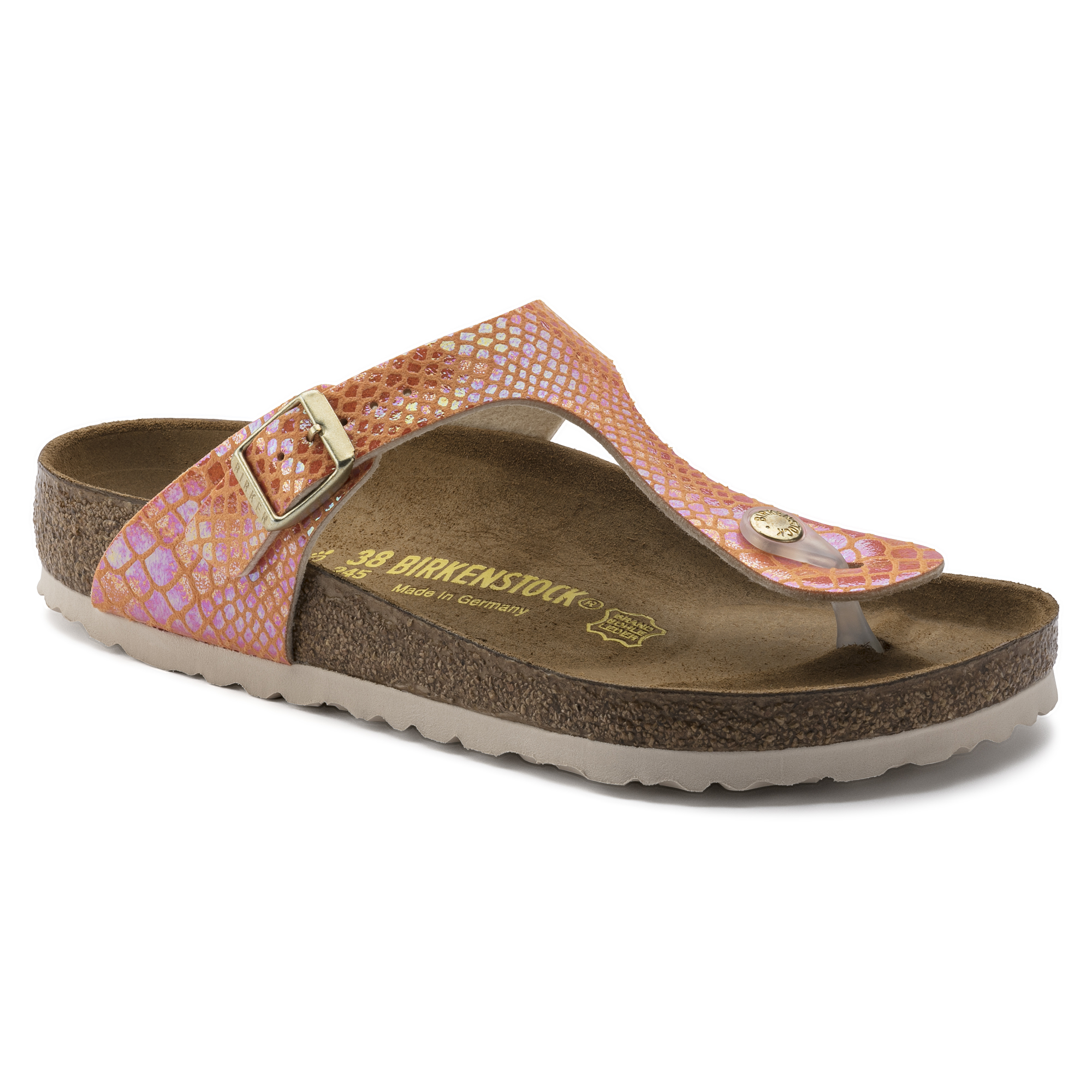 f6404da92ff Gizeh Birko-Flor Shiny Snake Orange