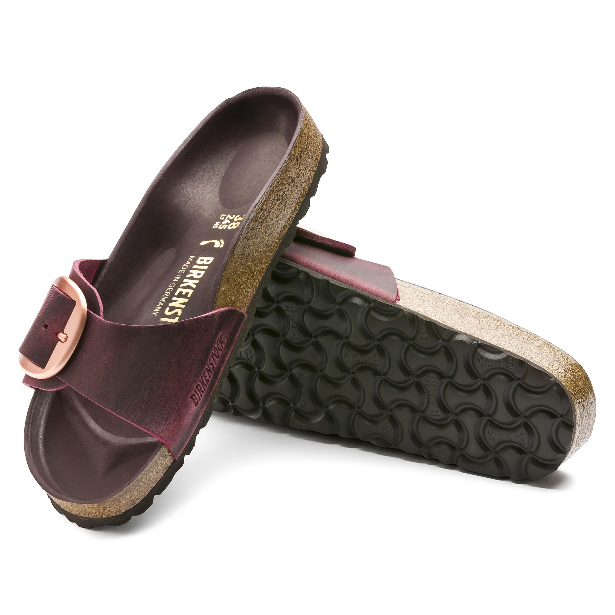Birkenstocks Inspiration Premium Collection Women Madrid Oiled Leather Zinfandel