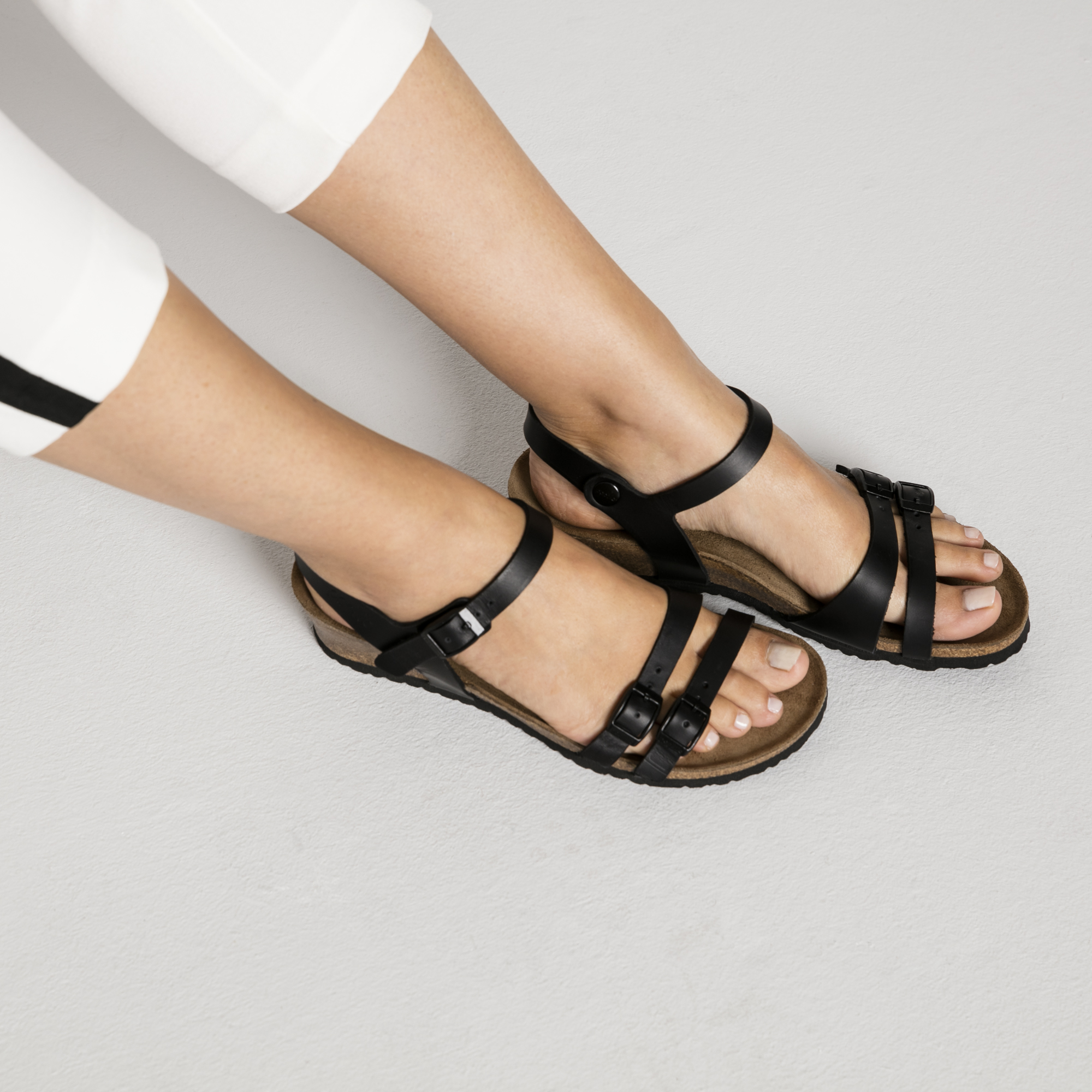 Birkenstock Lana Black Leather Sandal