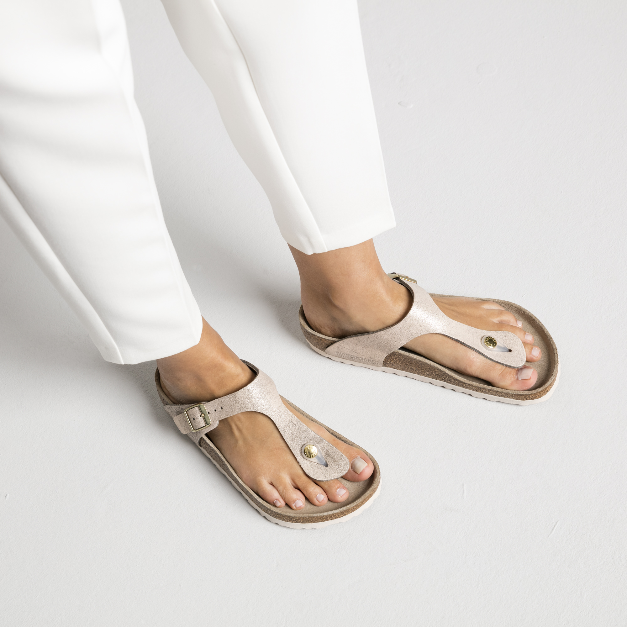 Gizeh BS Birkenstocks | Washed Metallic Rose Gold| Best