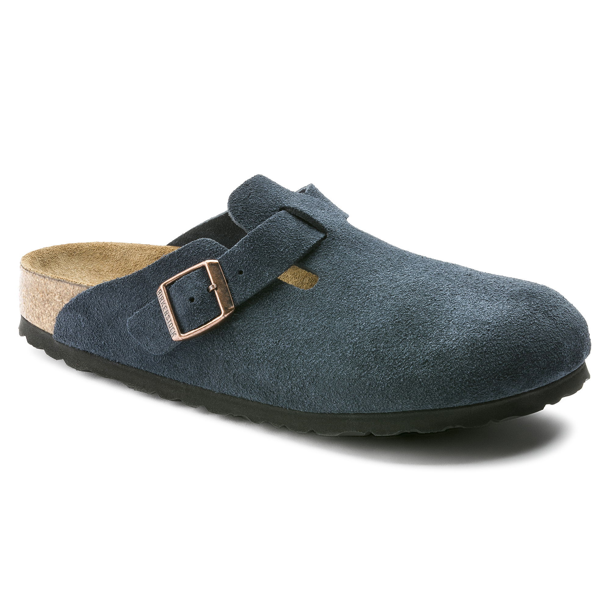 Boston Suede Leather Navy