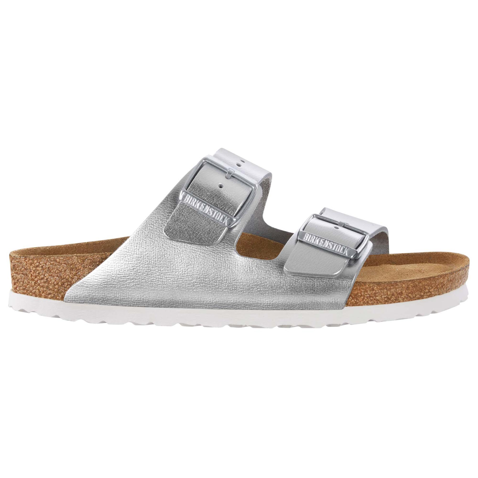 Shop Birkenstock Women's Arizona Soft Footbed Silver