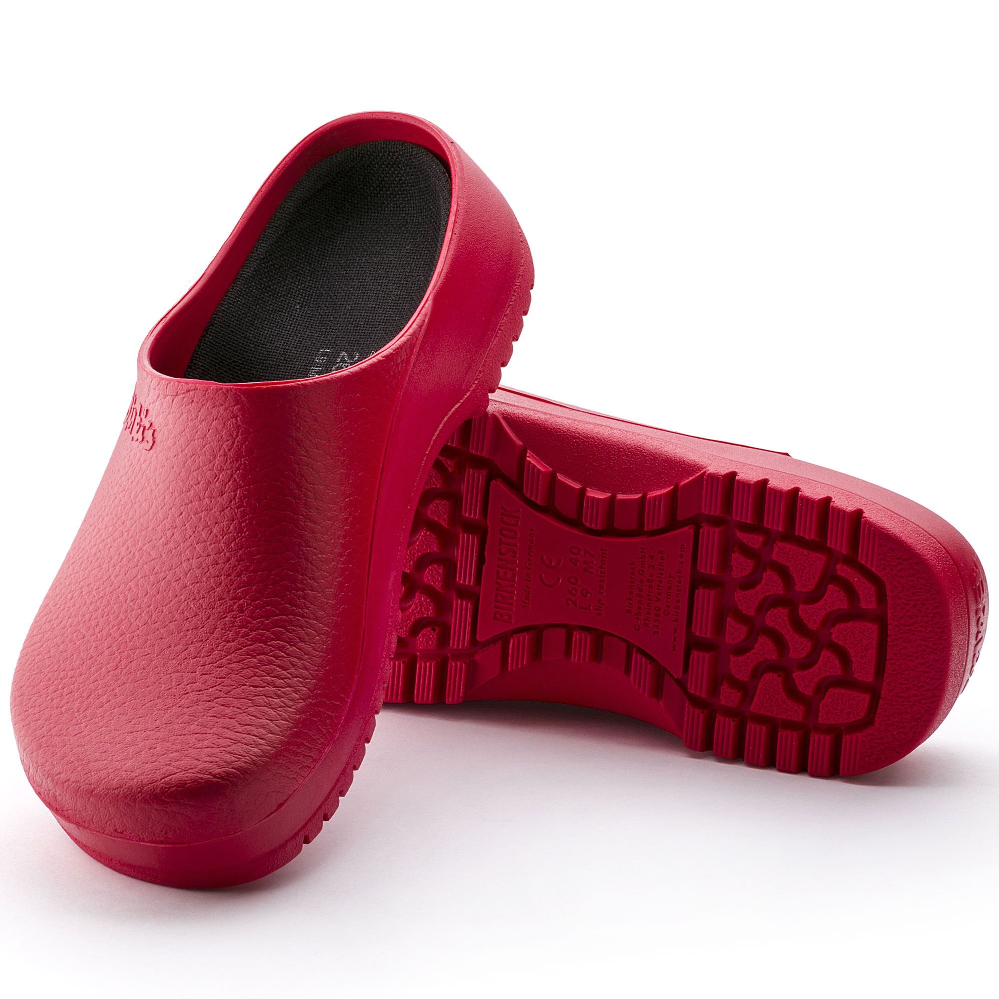 Birkenstock Birkis Super Birki PU Red Clogs