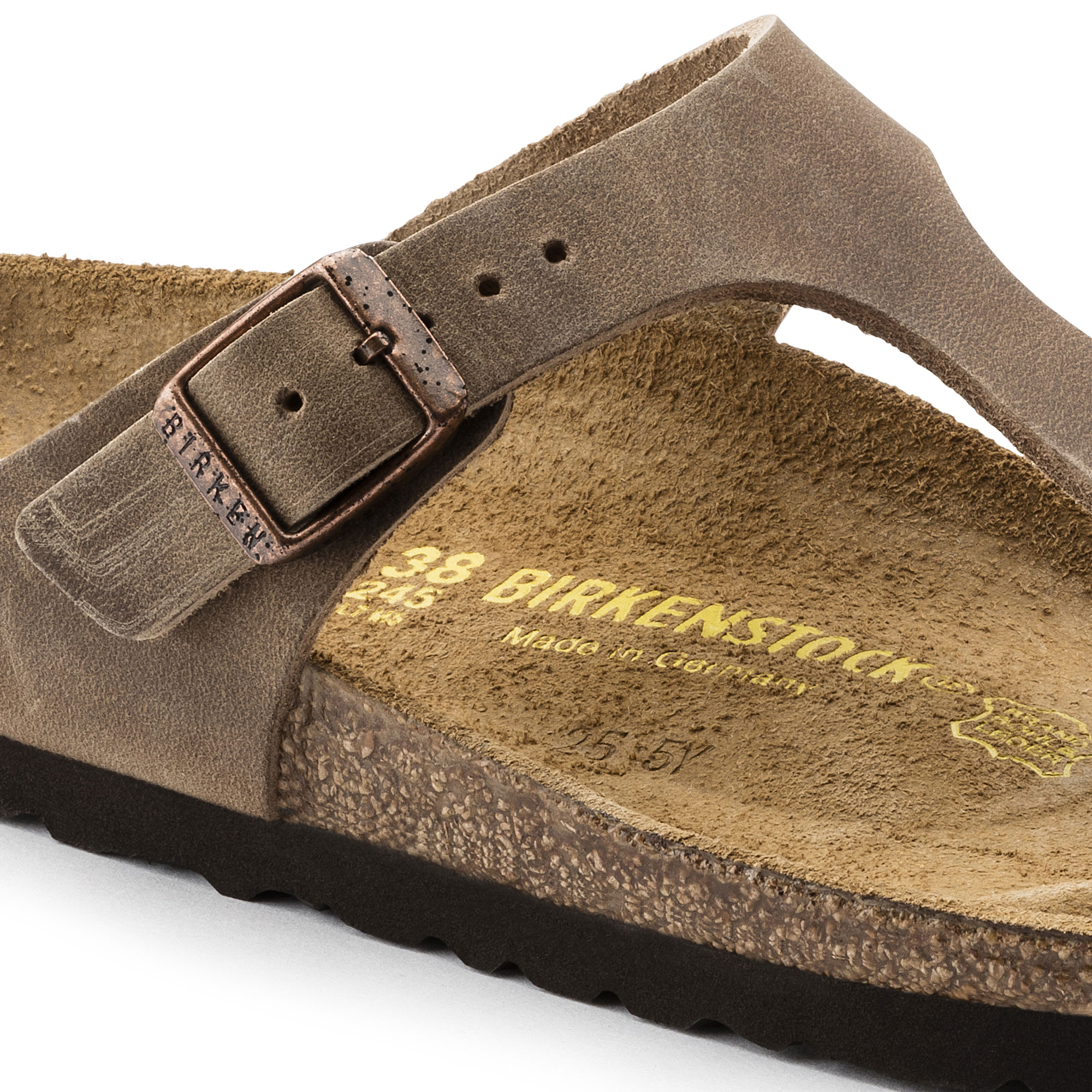 Gizeh oiled leather tobacco brown shop online at birkenstock for Color tabacco mobili