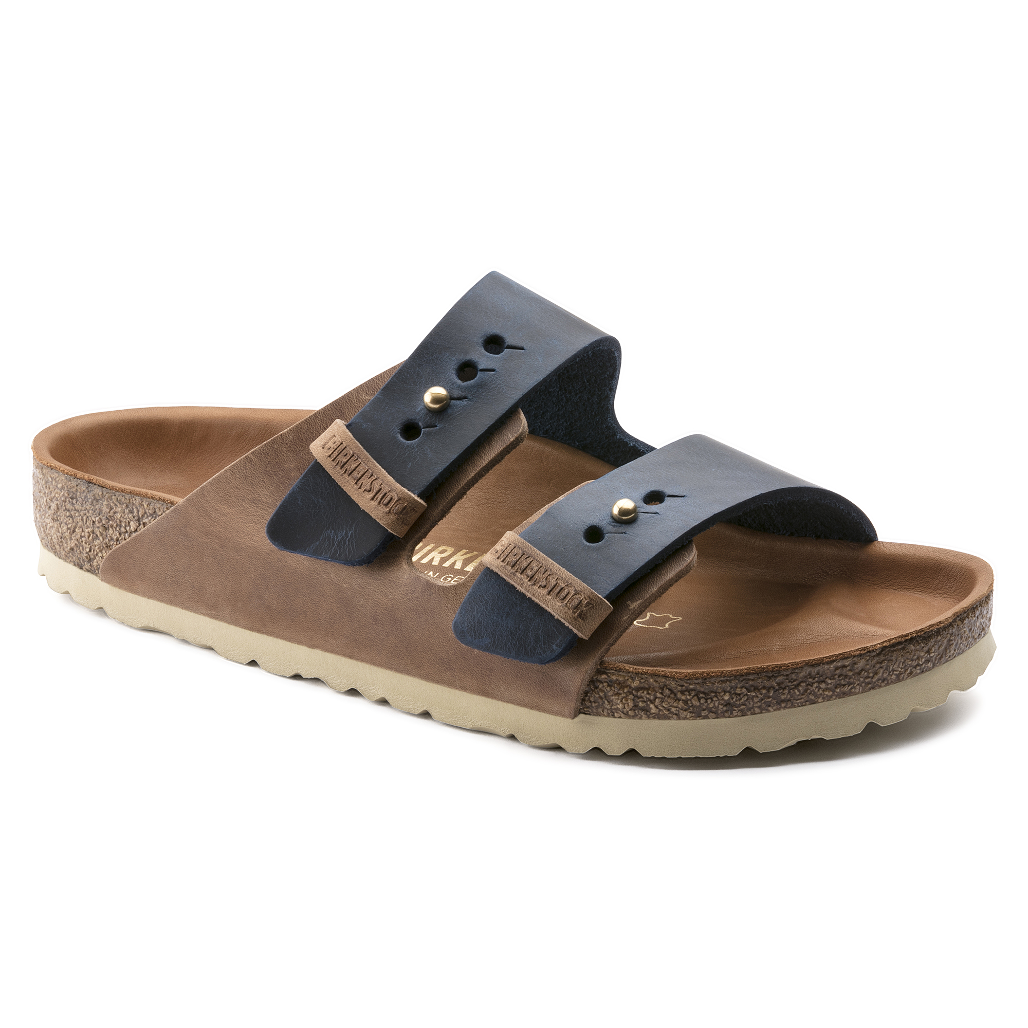 f804ded0c3d489 Arizona Natural Leather Natural Brown Blue