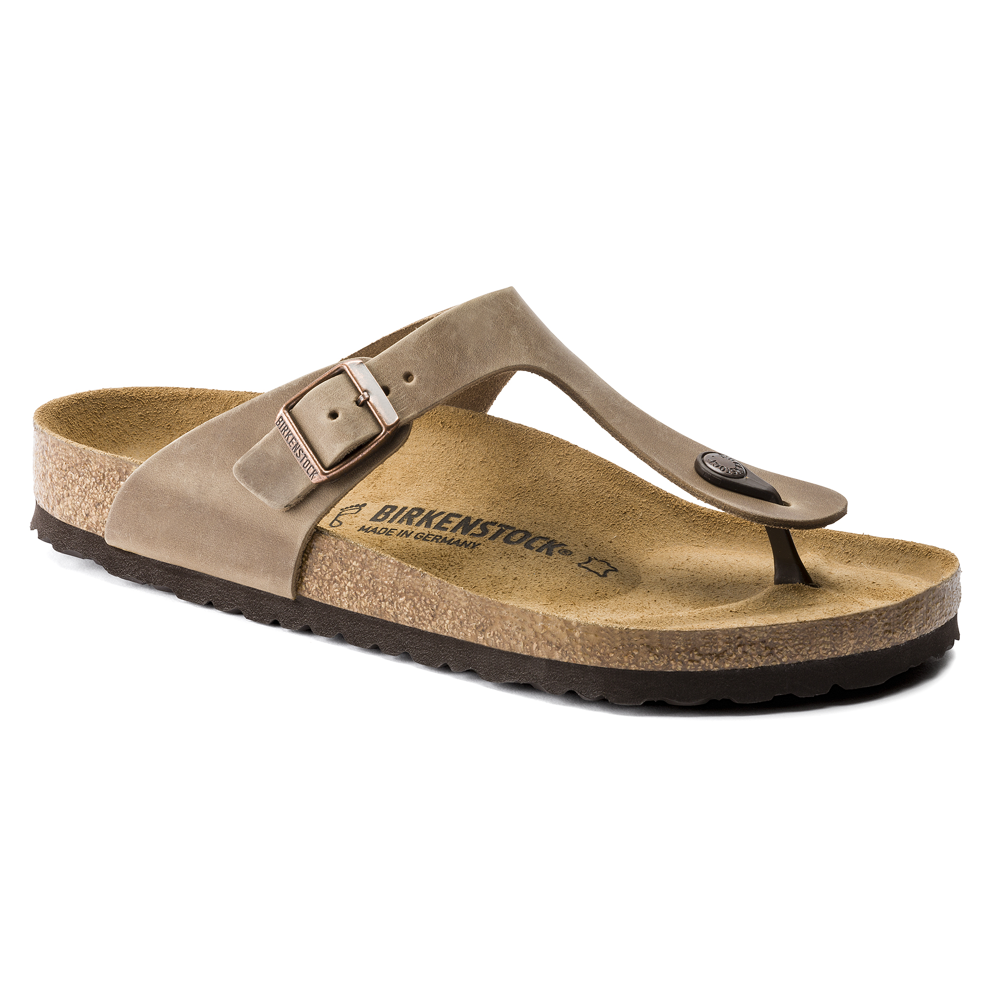 Birkenstock gizeh 43 10 tobacco leather sandals
