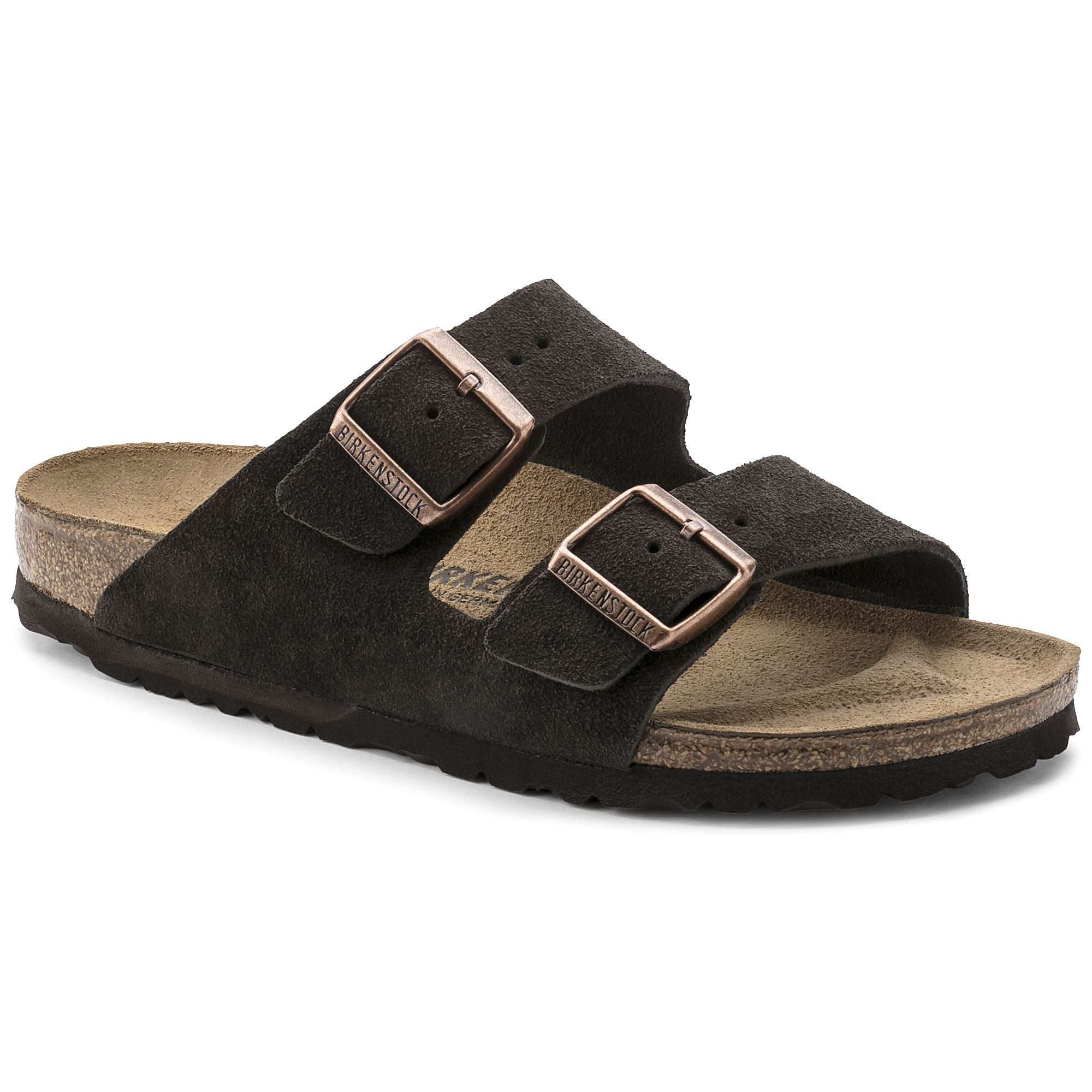 86f5ad585ac3f6 Arizona Suede Leather Mocha