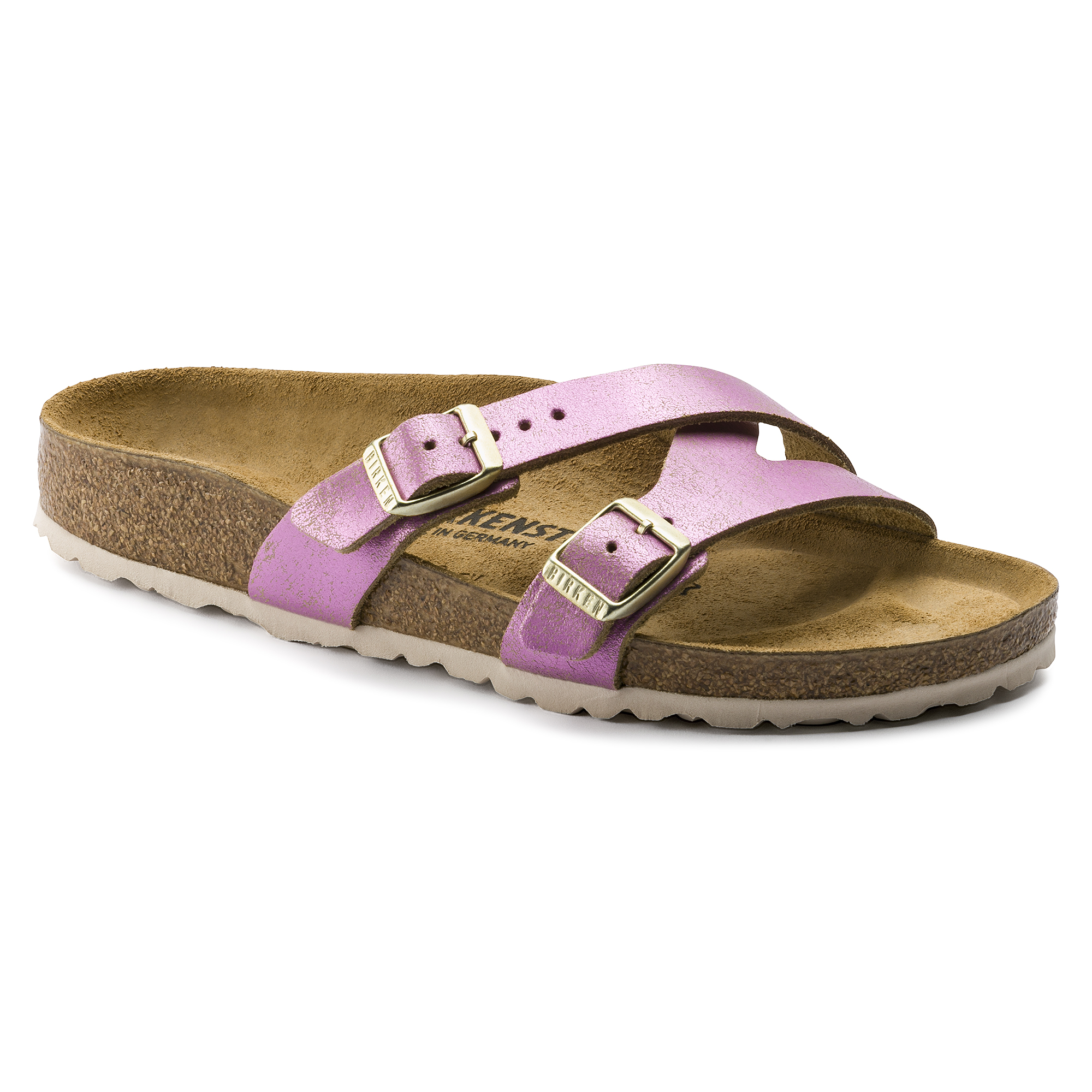4f4ff2541ec8 Yao Suede Leather Washed Metallic Pink ...
