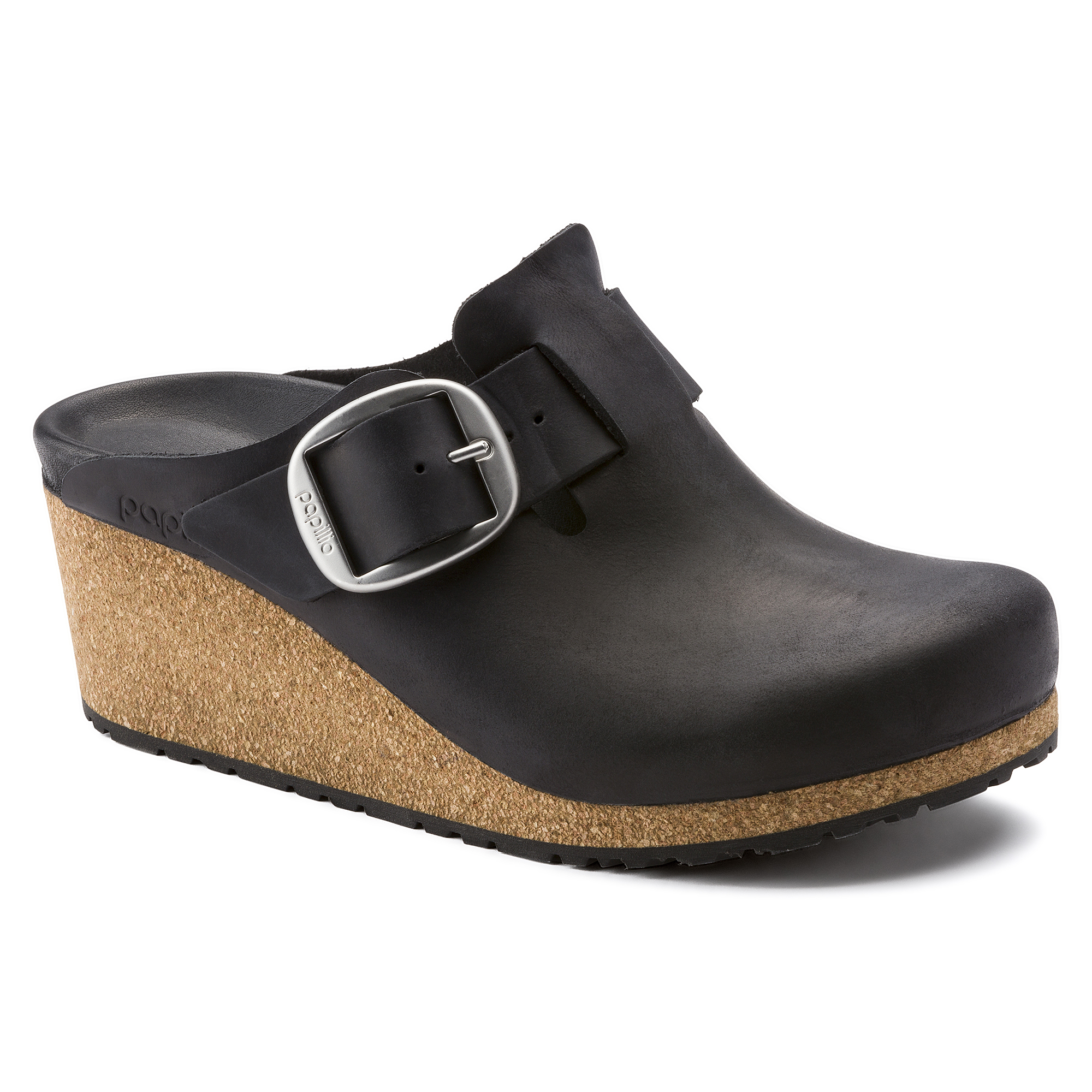 Clogs Birkenstock Fanny Bug Buckle Black Narrow Damen