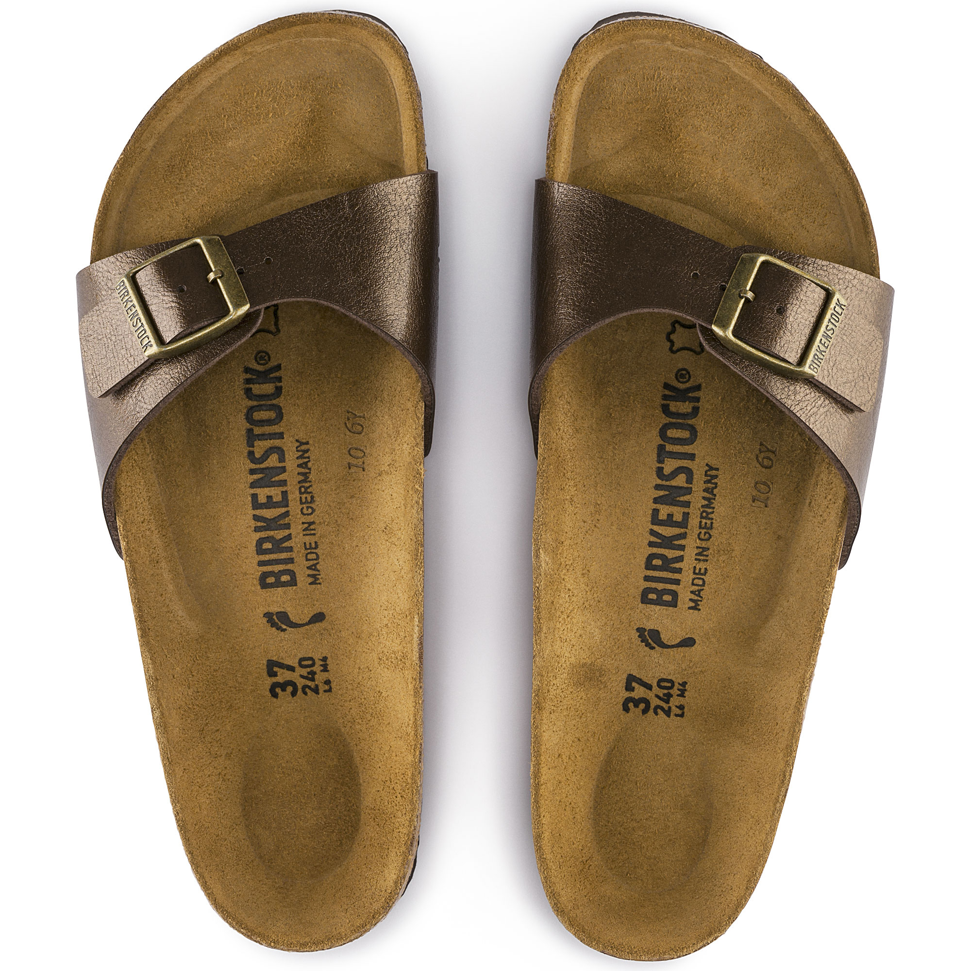 Birkenstock Madrid Birko Flor Graceful Toffee Sandals