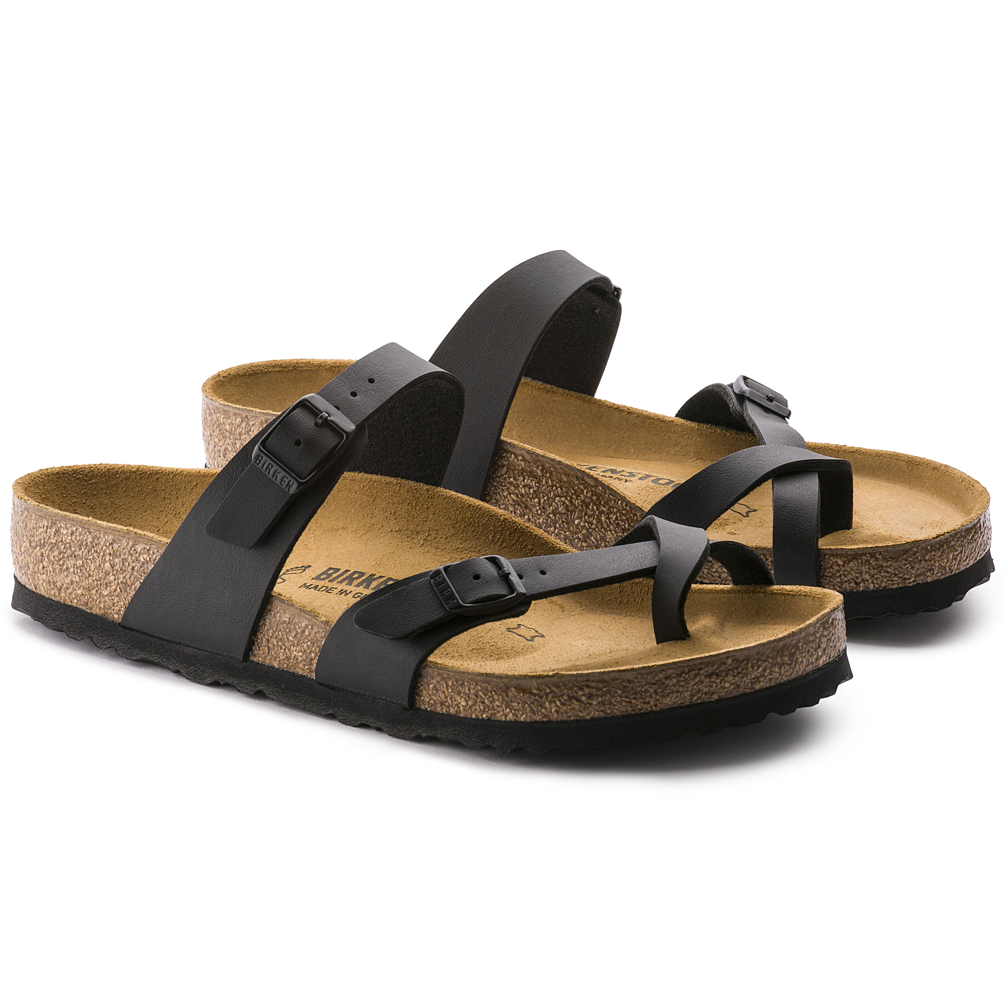 Birkenstock Mayari Birko Flor Black Sandals Women's Shoes
