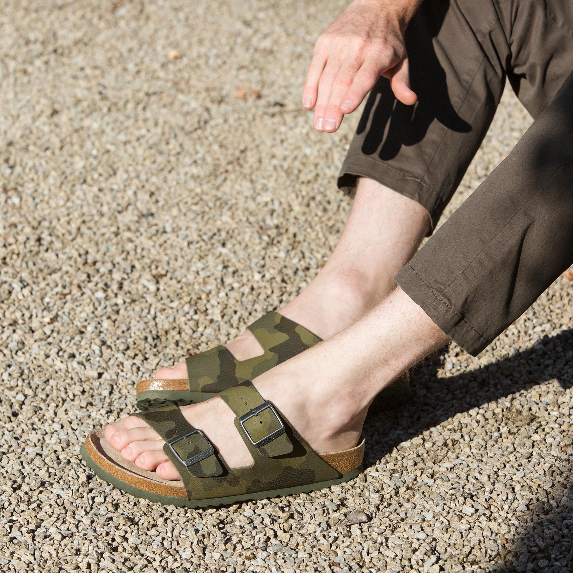 Birkenstock Arizona Camouflage Sandals, Desert Soil Camo