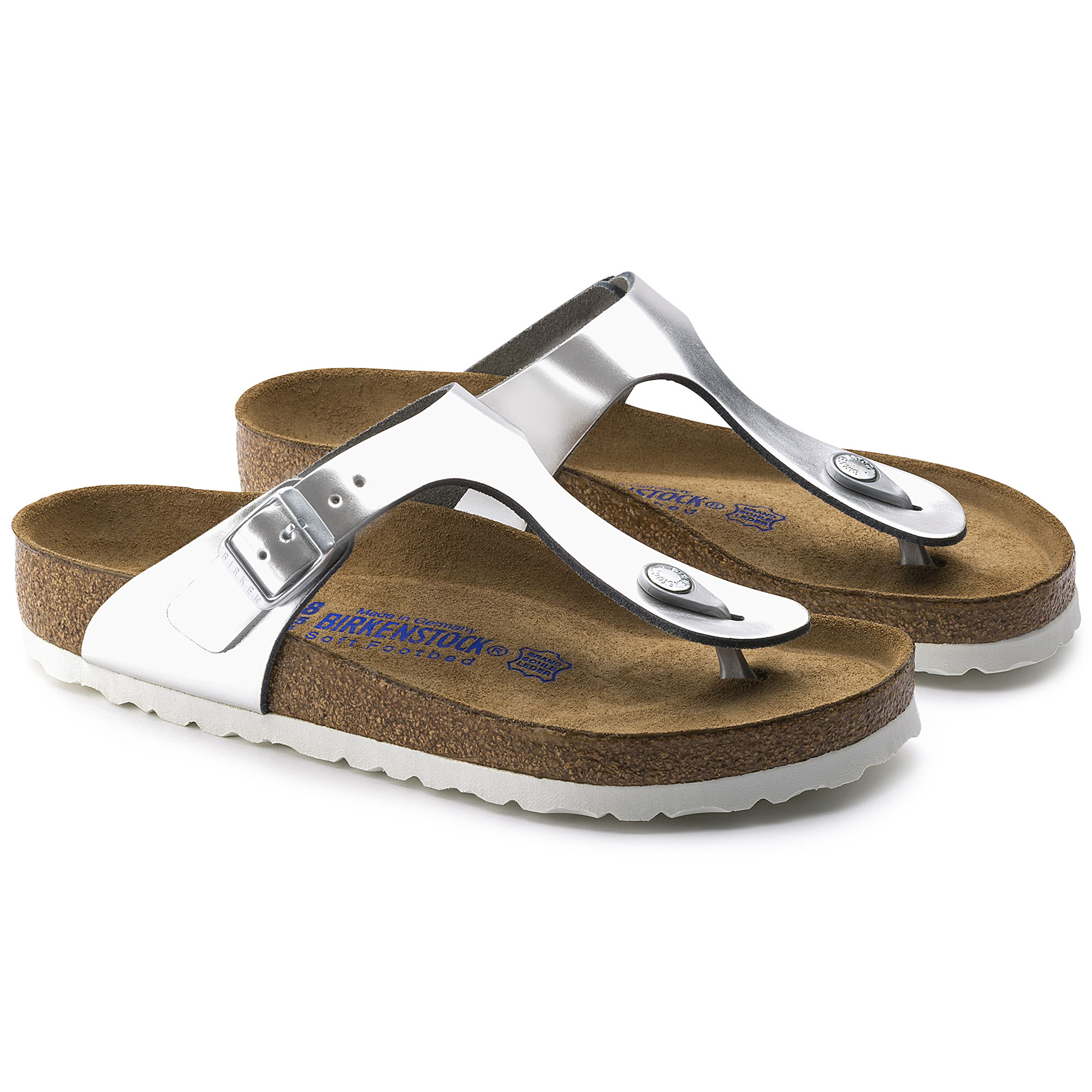 Gizeh Natural Leather Metallic Silver