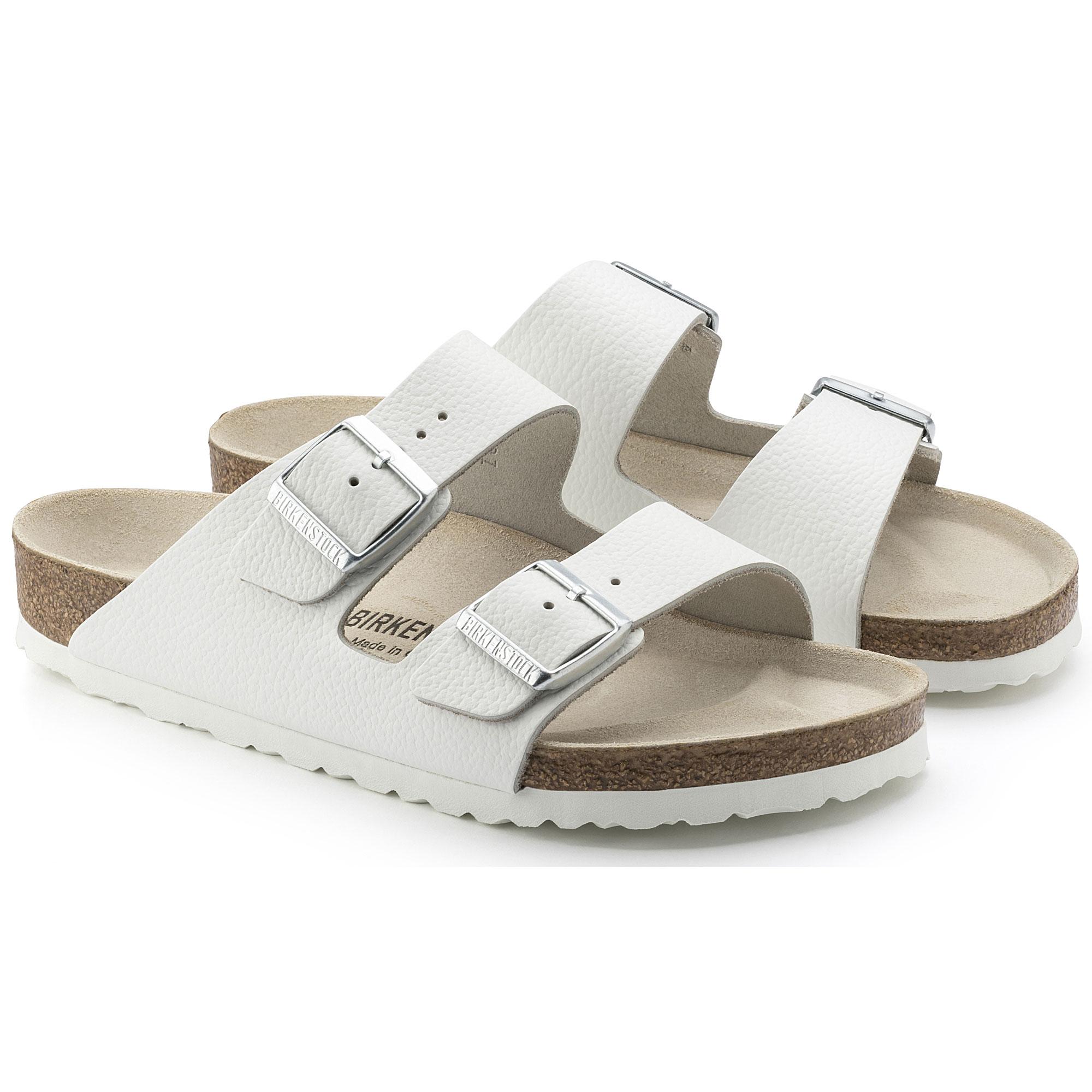 0fd8791c0905 Arizona Nubuck Leather White | shop online at BIRKENSTOCK