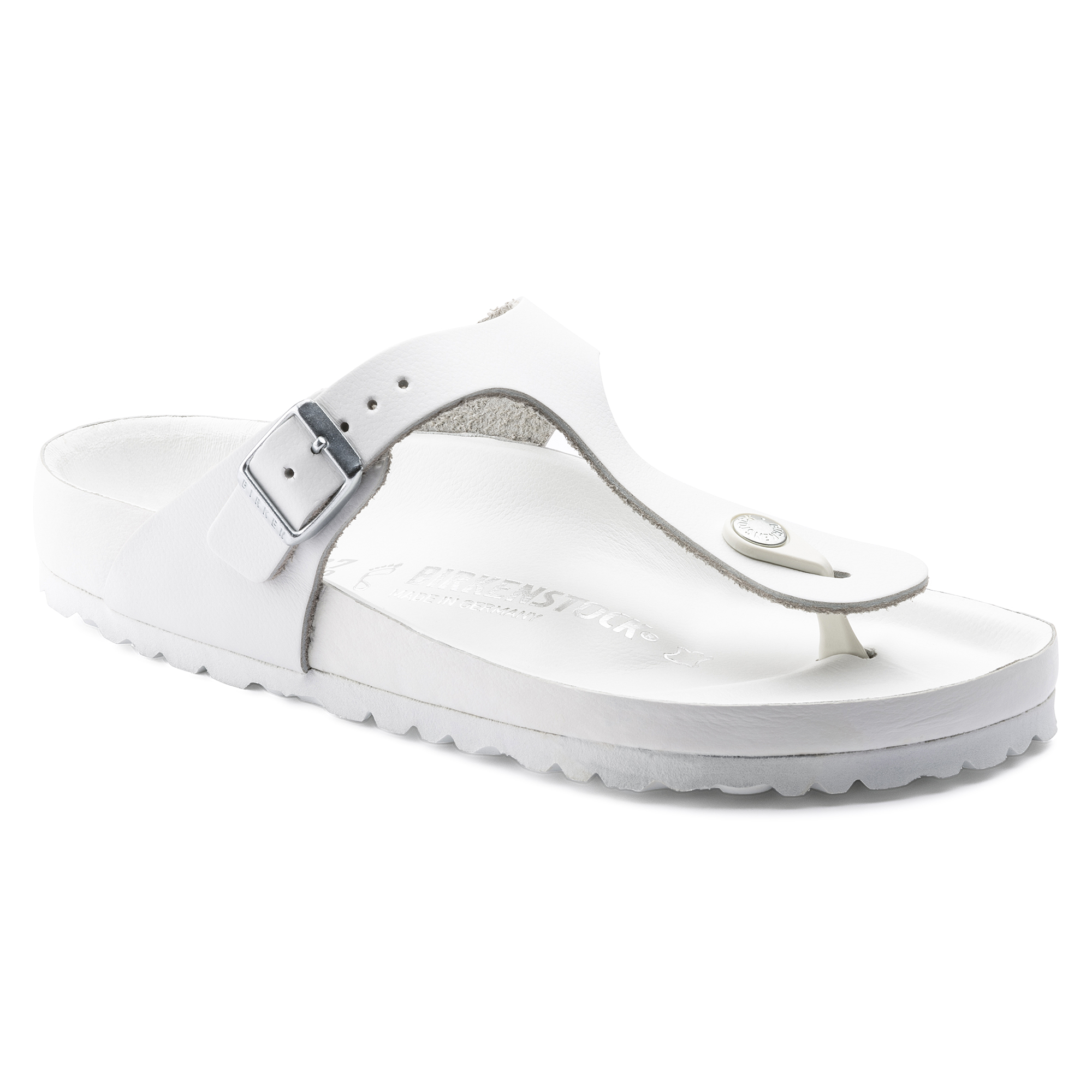 8faf1e2b6d9 Gizeh Natural Leather White