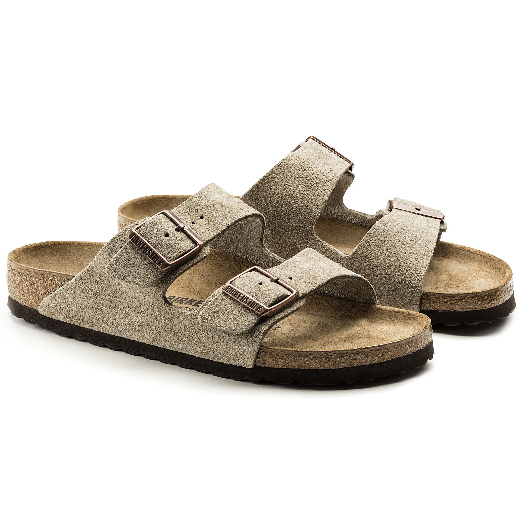 8fdedc28fed Arizona Suede Leather Taupe ...