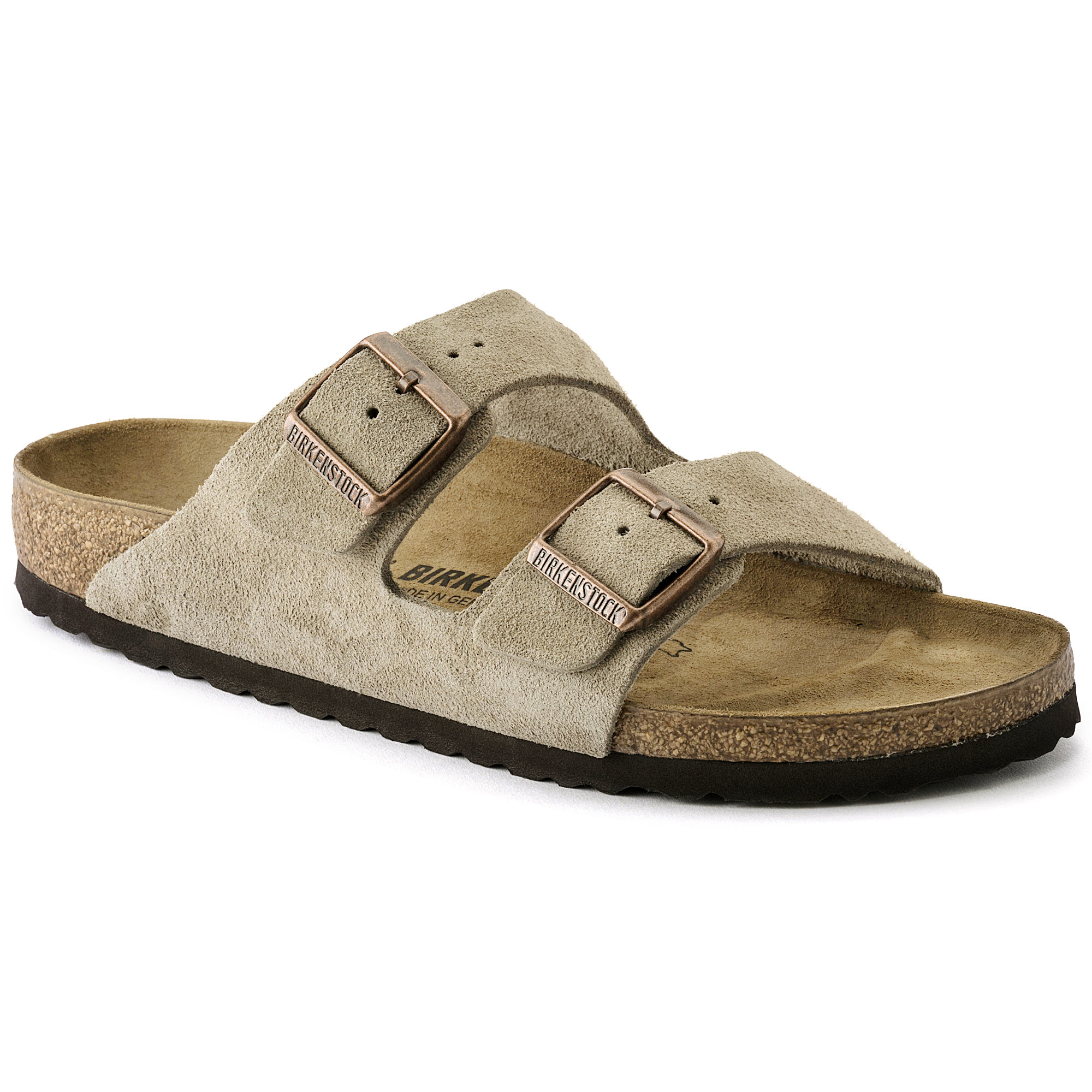eff2c224d721 Arizona Suede Leather Taupe