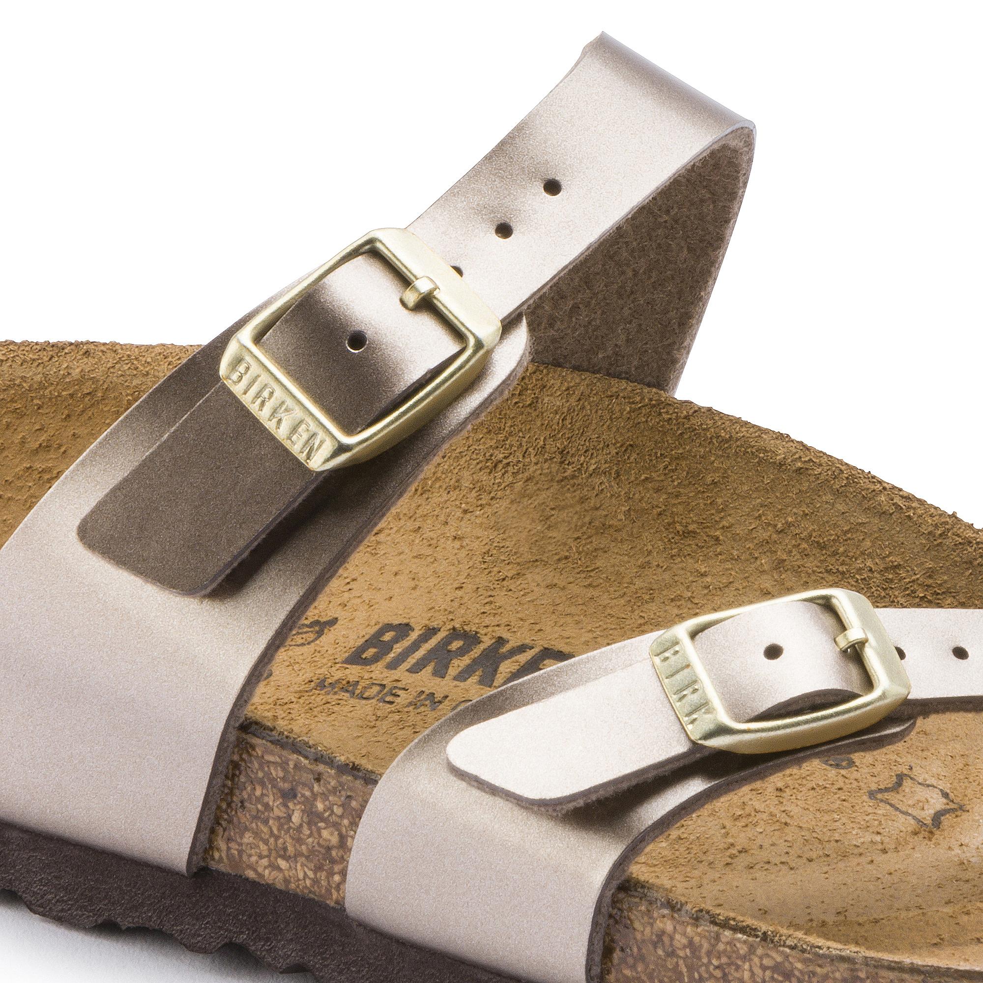 Birkenstock Mayari (Electric Metallic Taupe Birko Flor) Women's Sandals