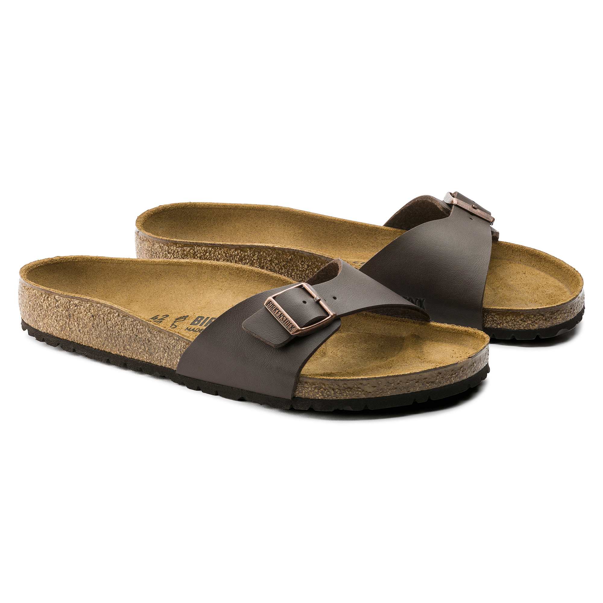 Birkenstock Madrid Dark Brown Slide Sandals Birkenstock