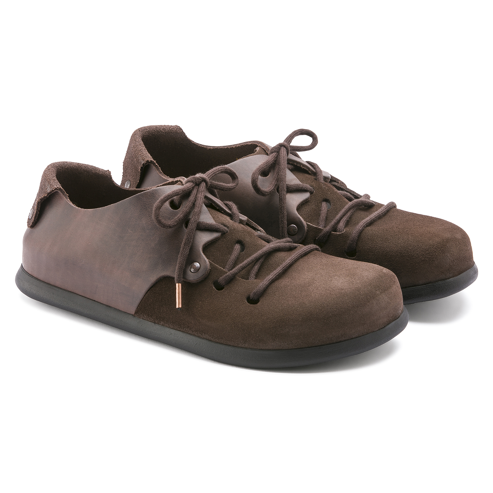 low priced 72b57 1d96a Montana Oiled Leather/Suede Leather Ebony