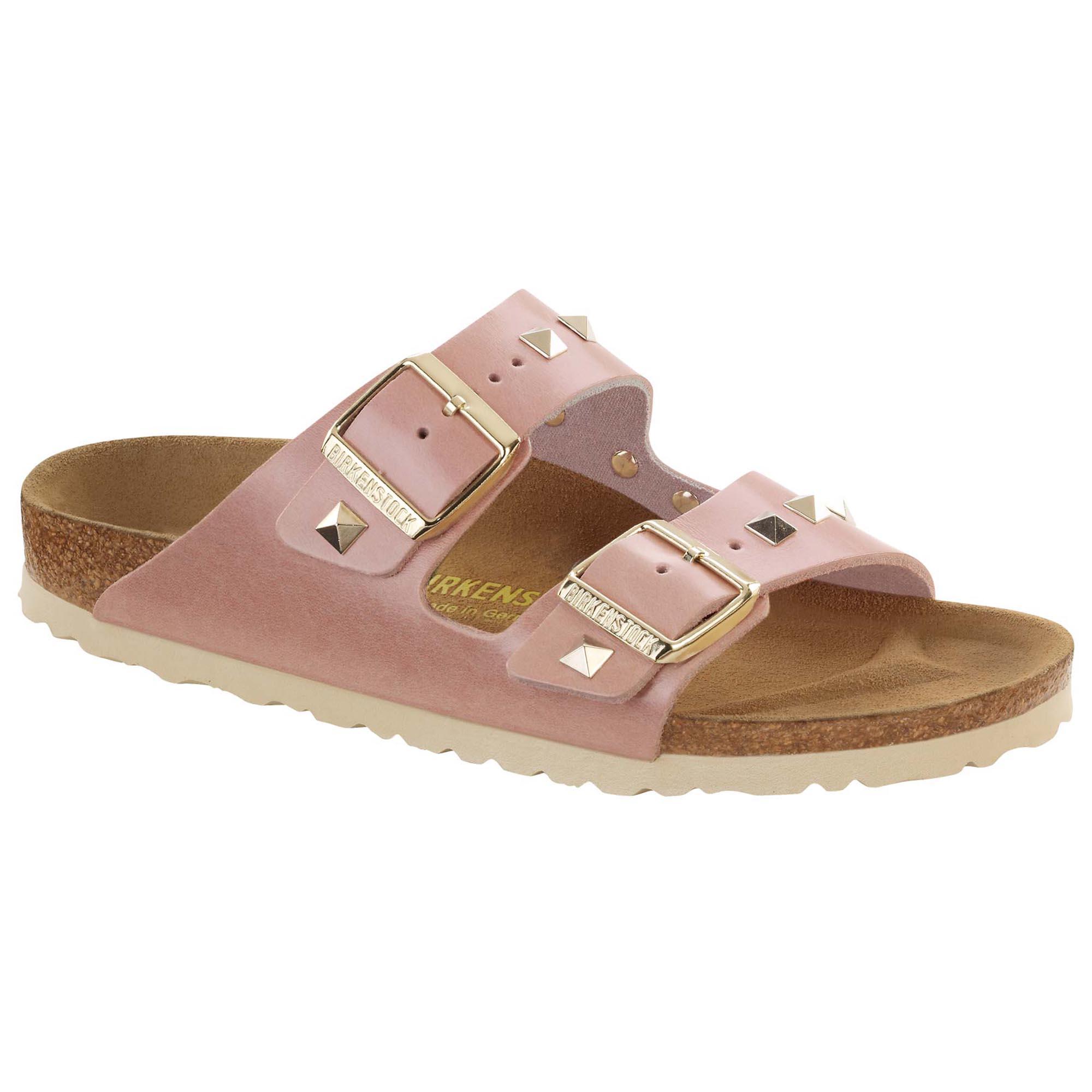 Birkenstock Arizona Rosé leer slippers