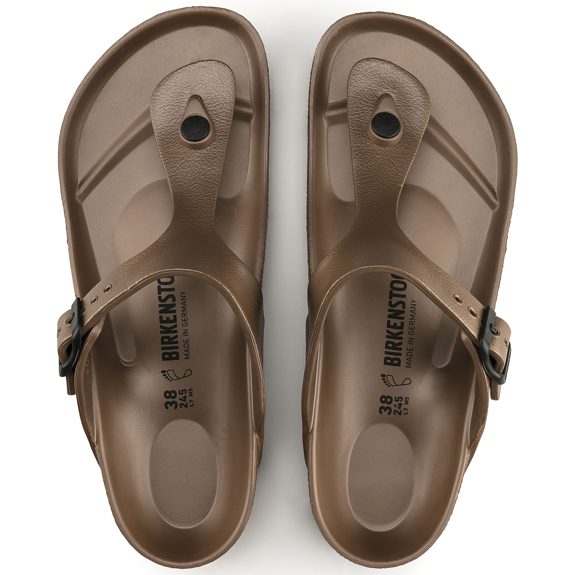 Birkenstock Gizeh EVA Women's Sandal in Metallic Silver