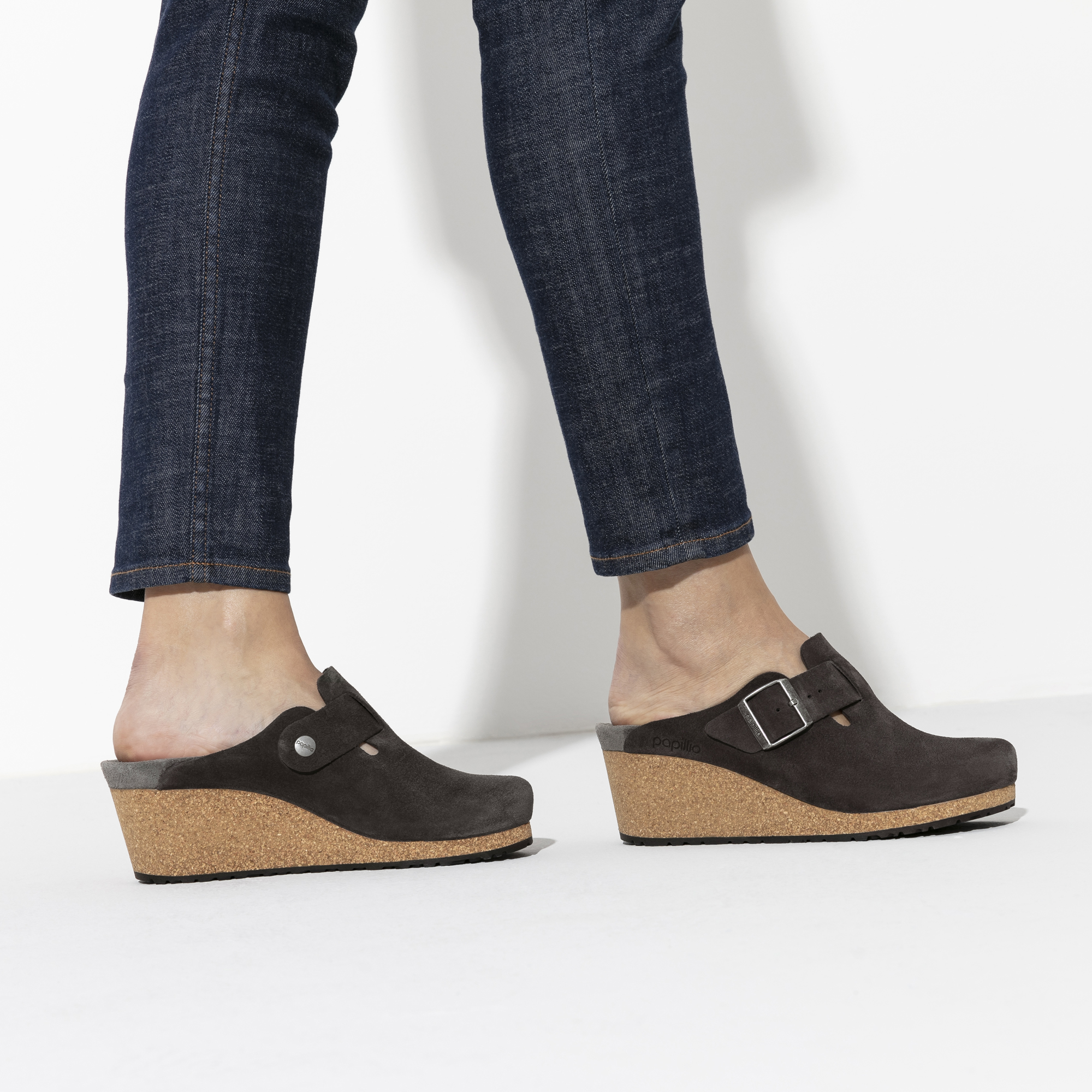 Fanny Suede Leather Anthracite