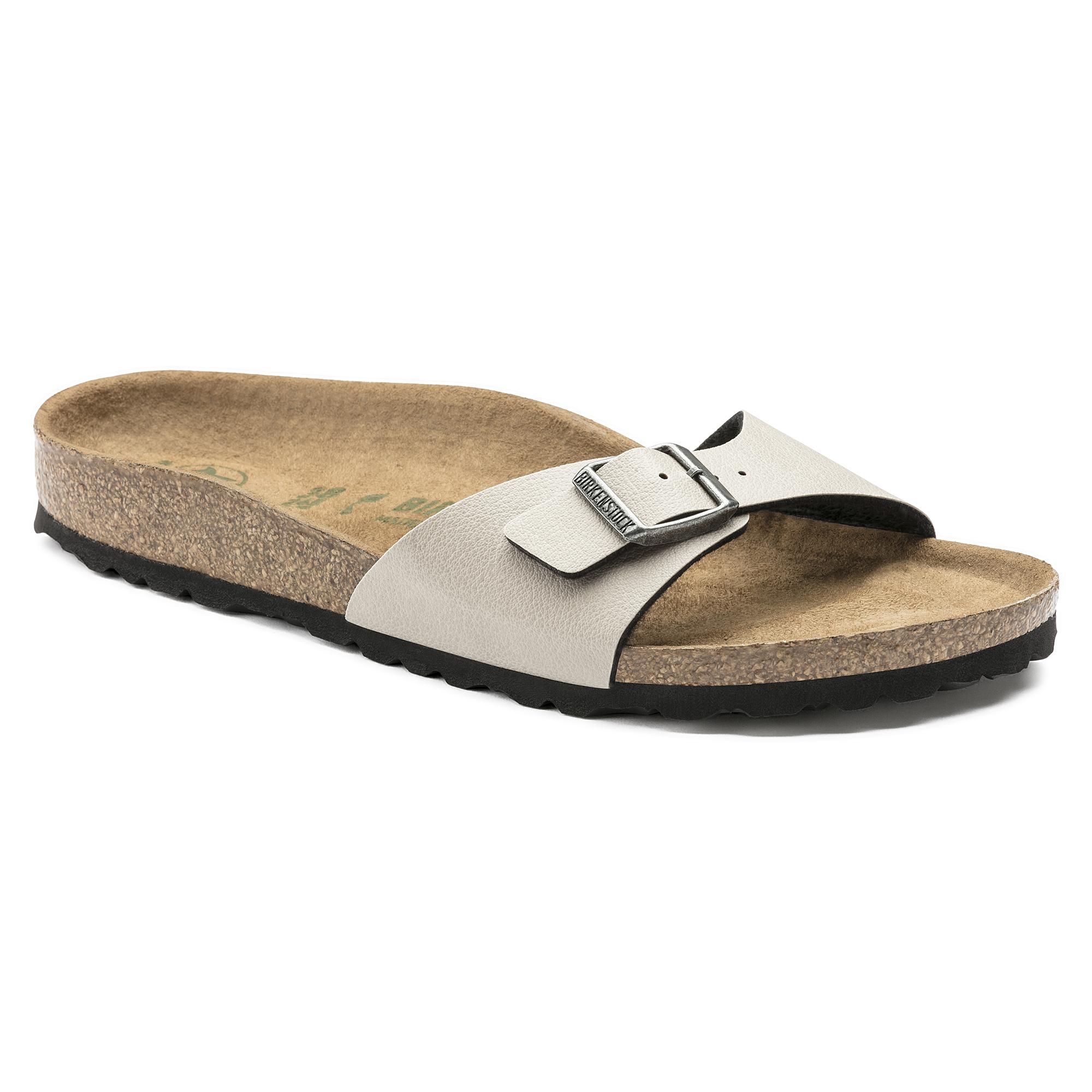 Birkenstock Madrid Birko flor Sandals Pull up Stone Slip on
