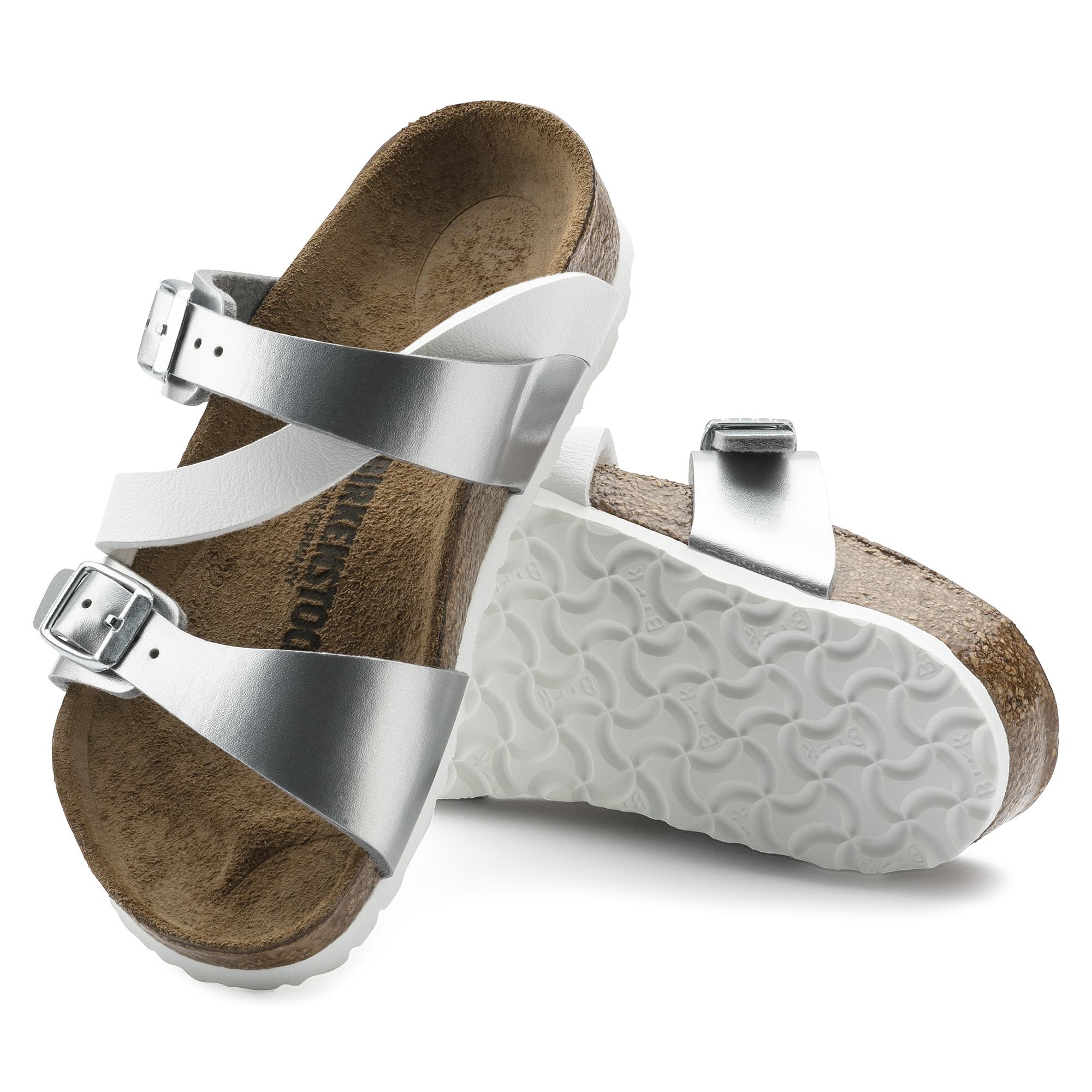 4387884797a ... Salina Birko-Flor Soft Metallics Silver White ...