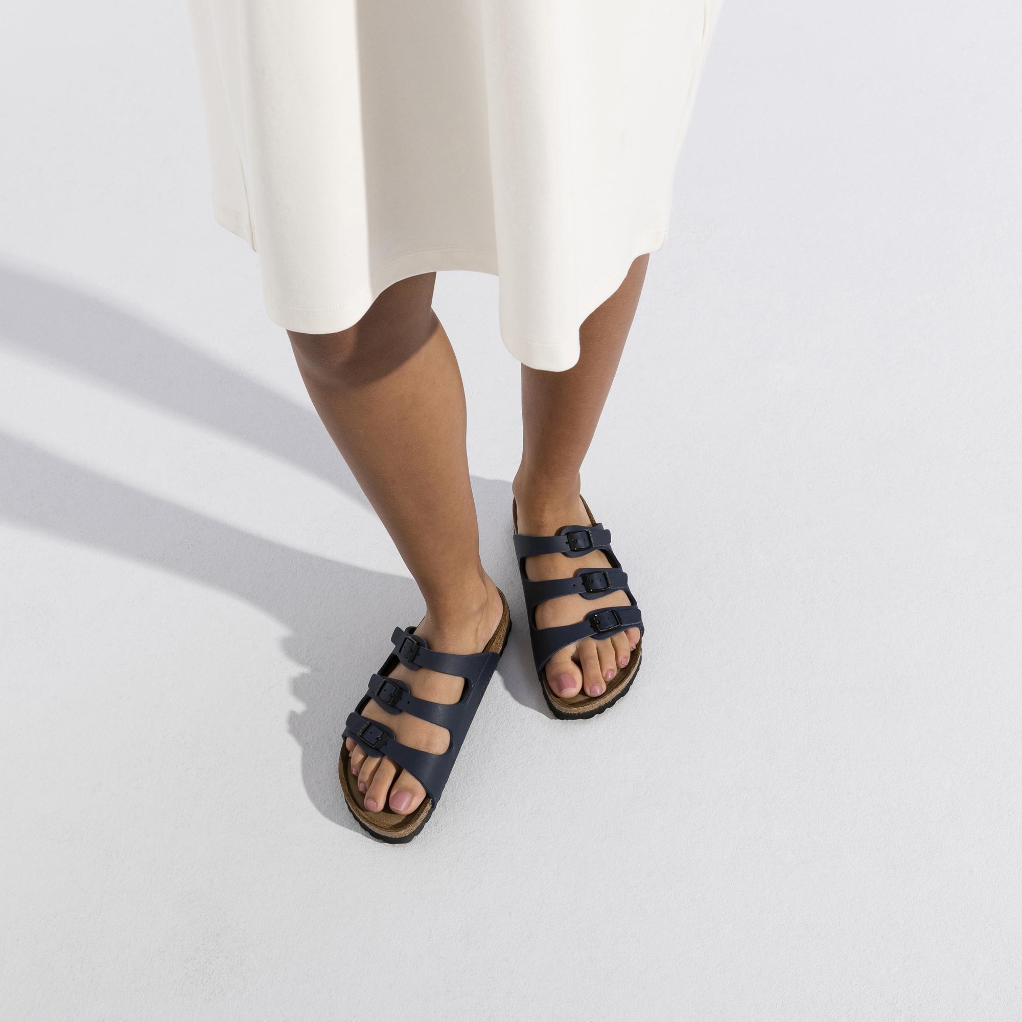 Birkenstock 554713 Florida Blue Soft Footbed Birko Flor Narrow All Sizes Brand New