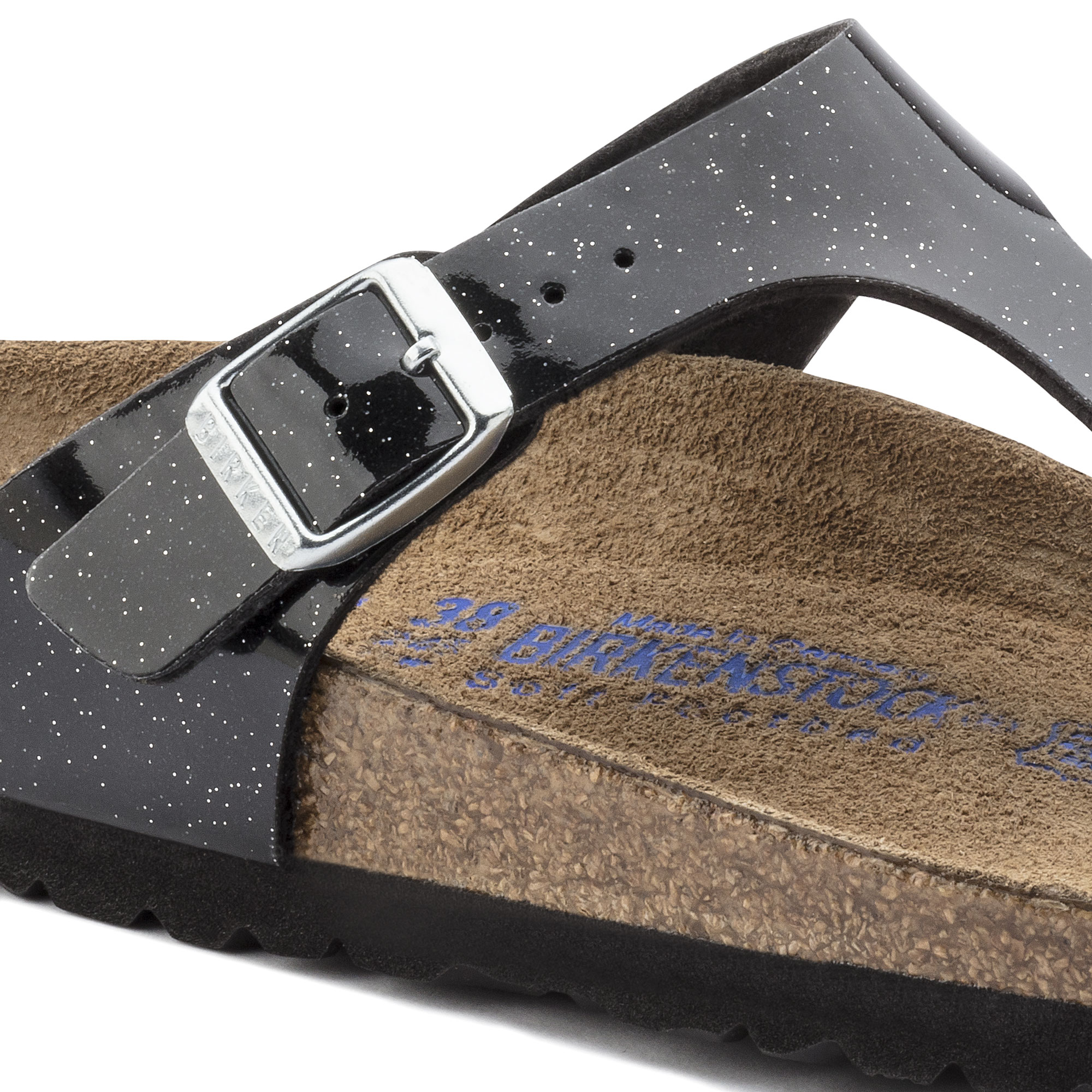 Birkenstock Gizeh Weichbettung Birko Flor Magic Galaxy Black