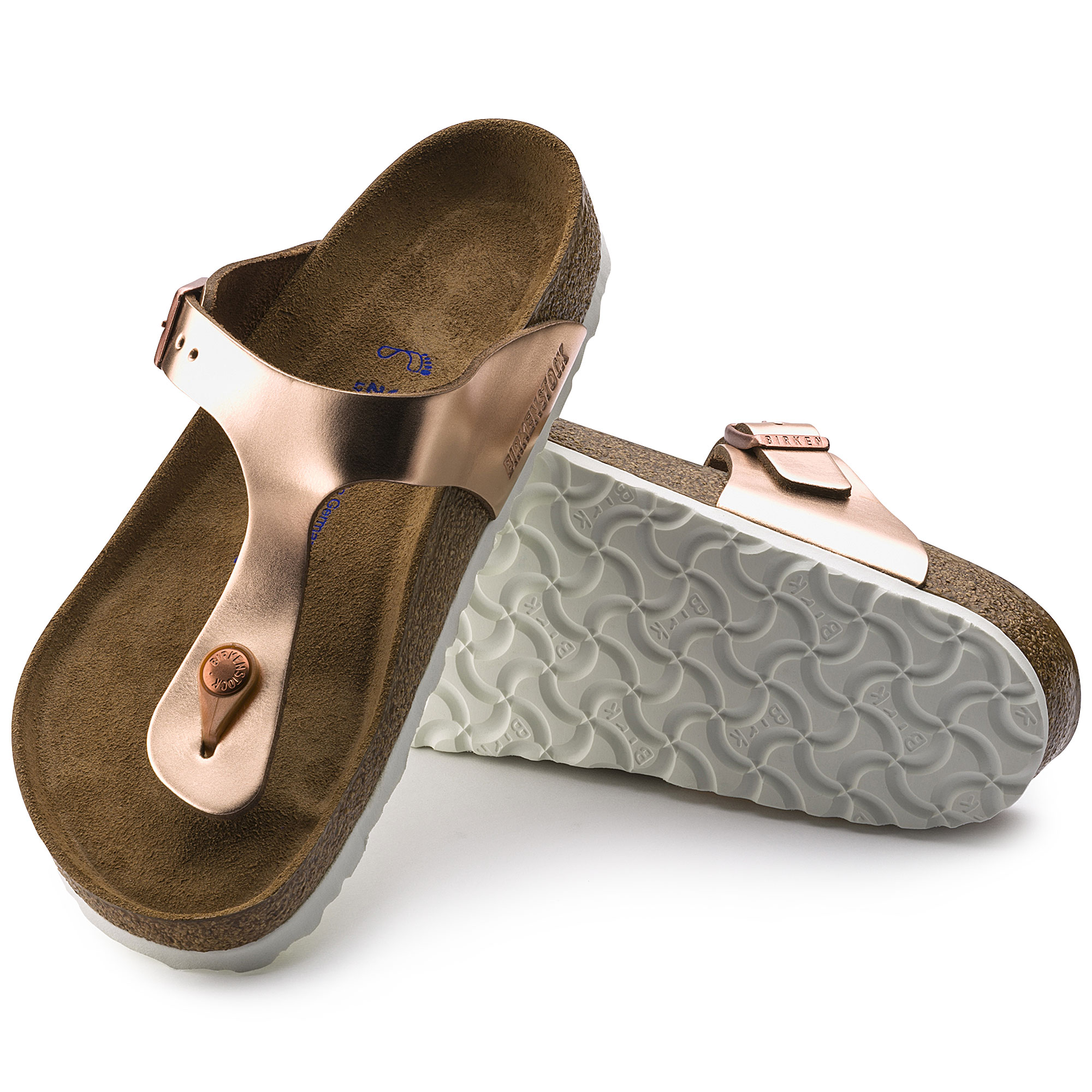 Birkenstock Gizeh Soft Footbed Women Thong Sandal metallic copper