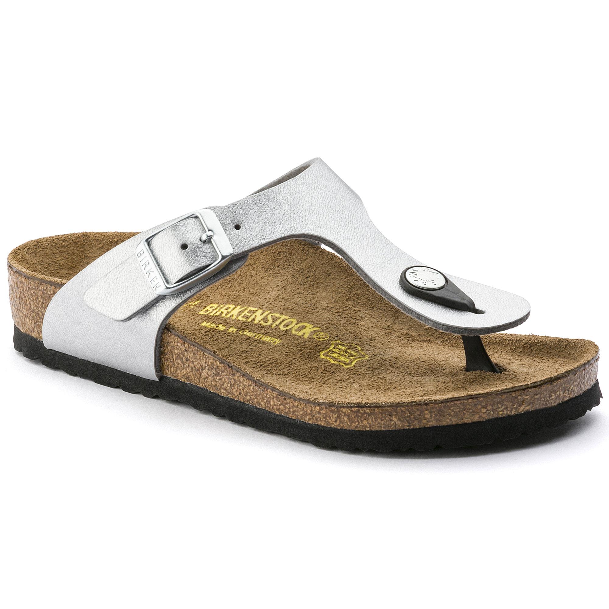 Birkenstock Gizeh NL WB (silver) | 43einhalb Sneaker Store